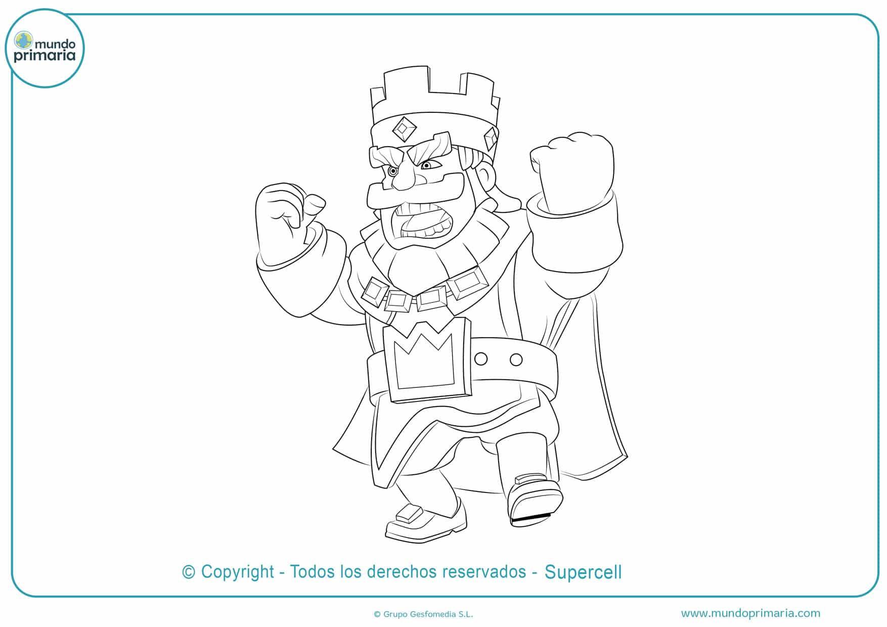 dibujos de clash royale para colorear