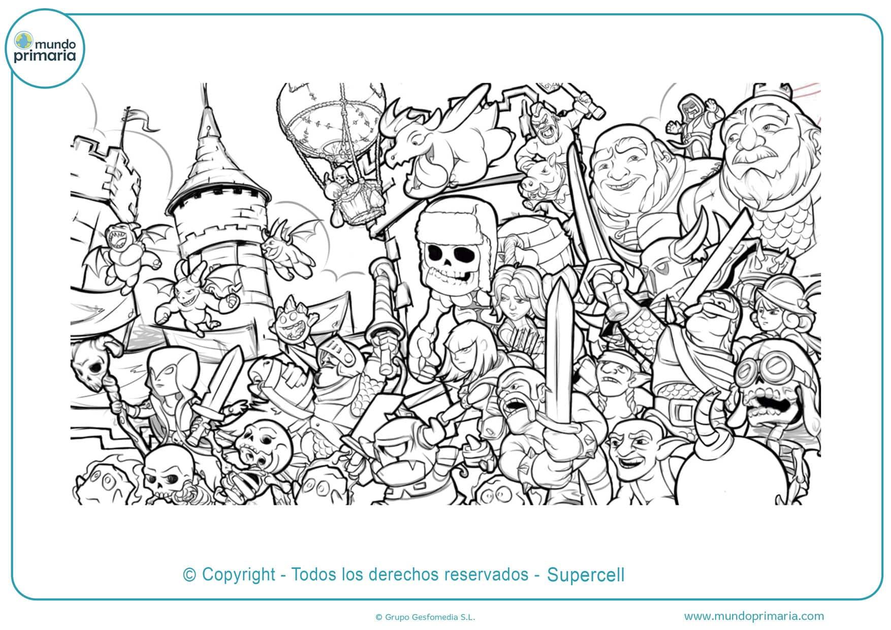dibujos para colorear de clash royale imprimir
