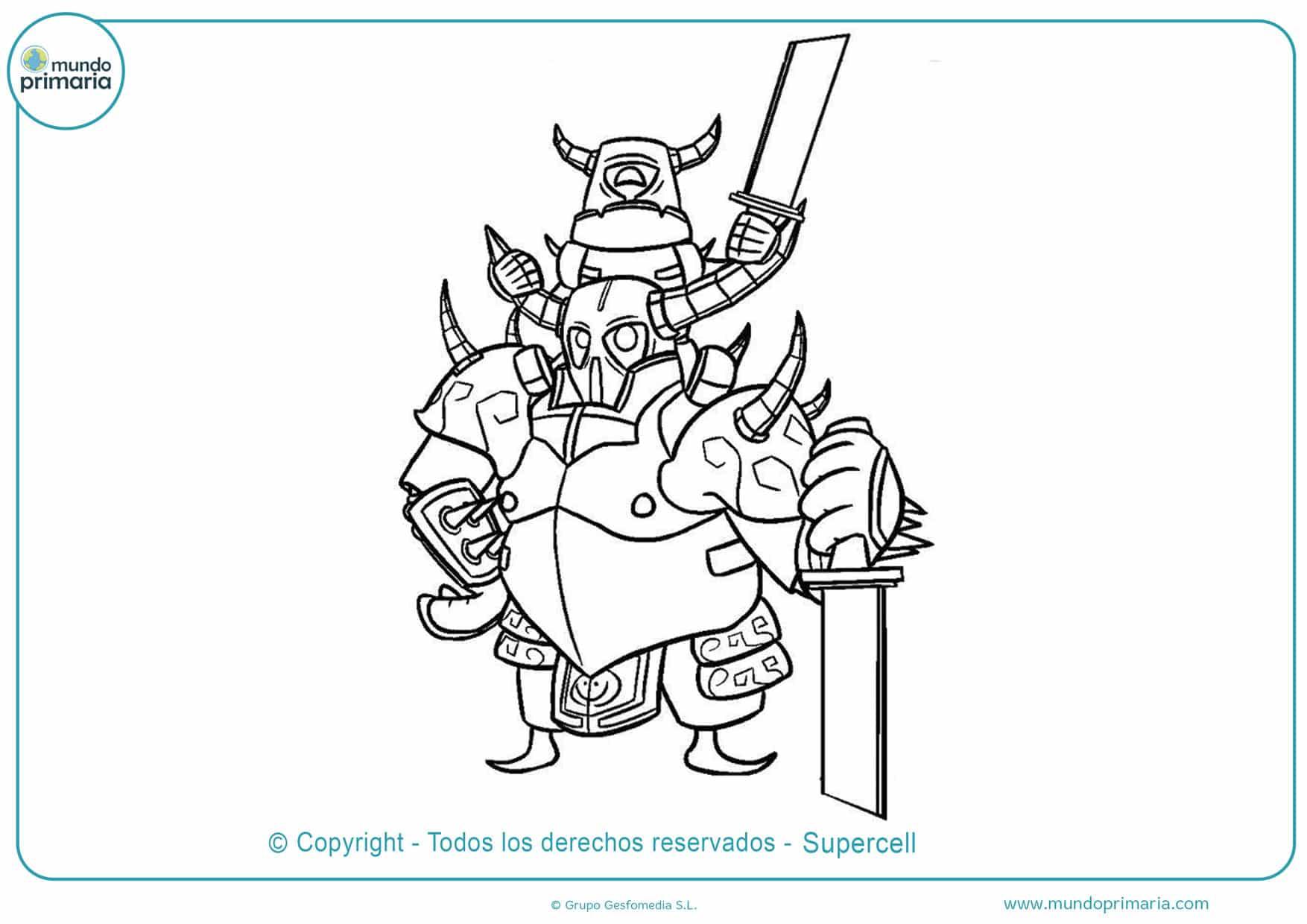dibujos de clash royale de pekka para pintar