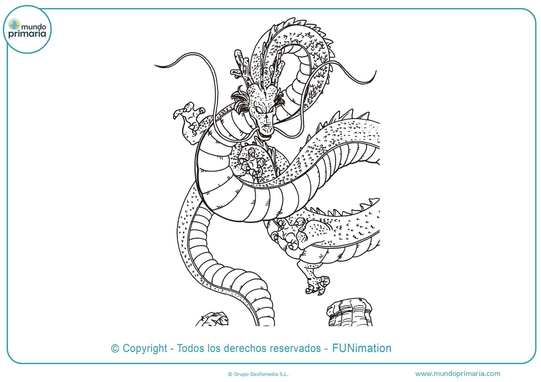 dibujos para colorear de dragon ball shenlong