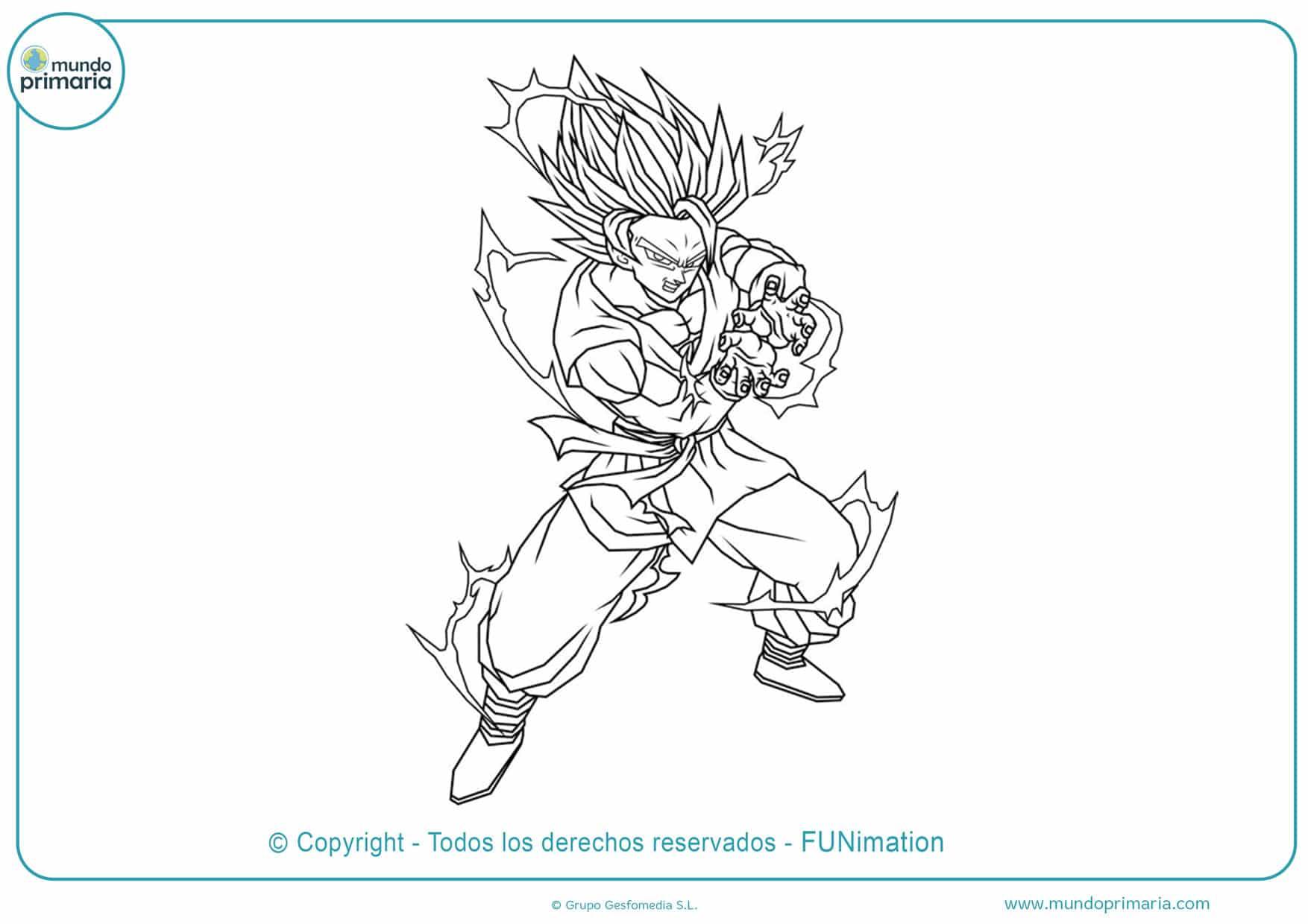 Dibujos De Goku Y Son Goku Para Colorear Listos Para