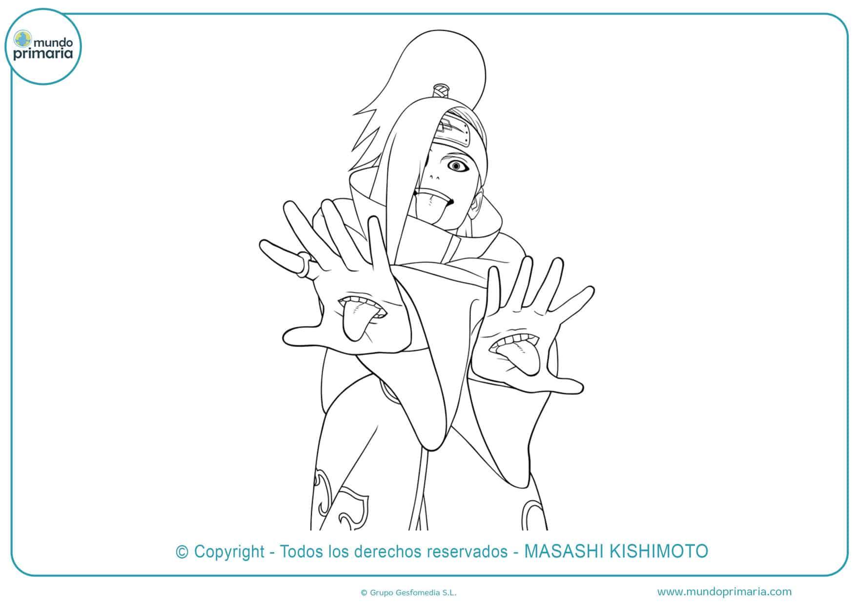 dibujos para colorear de naruto haciendo el rasengan