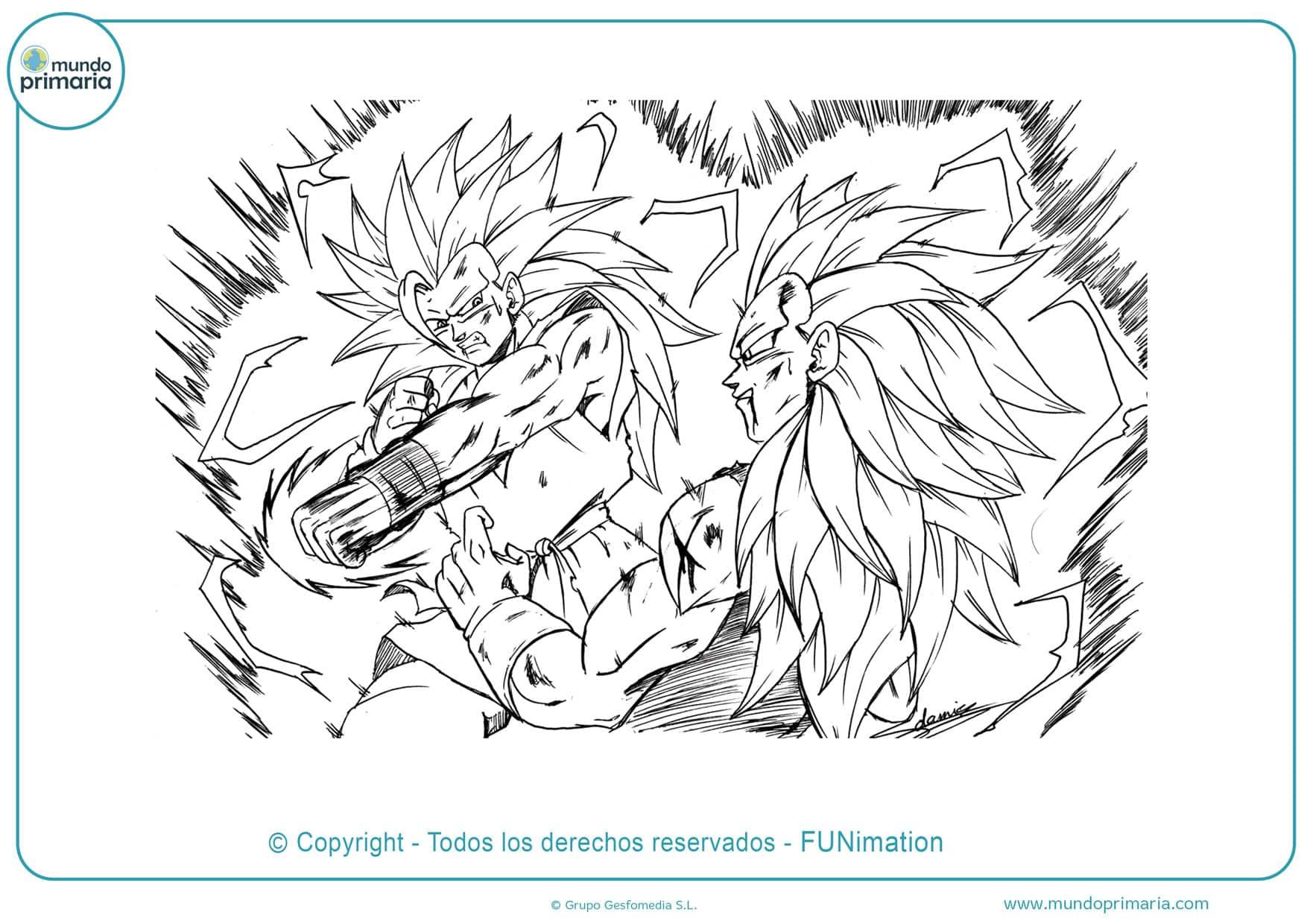 Dibujos de Goku a lápiz