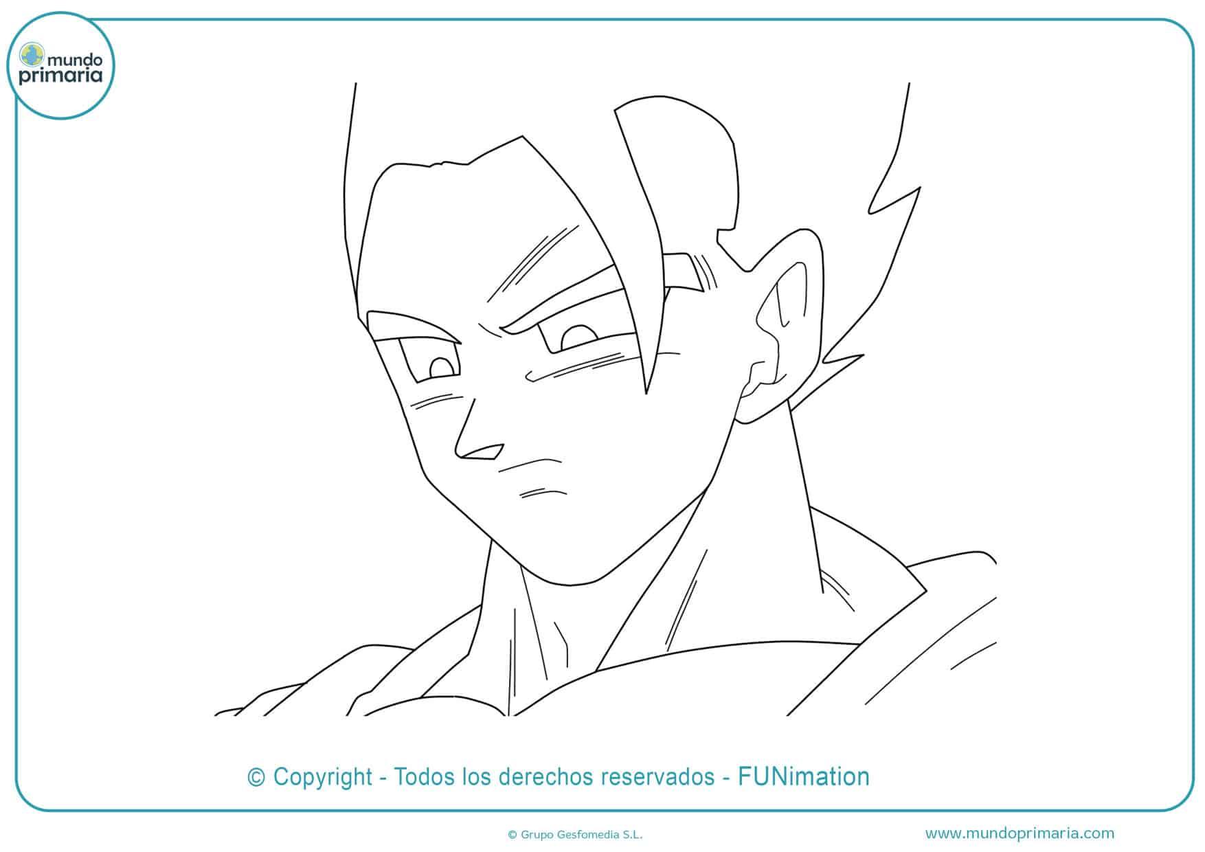 Dibujos de Goku fáciles
