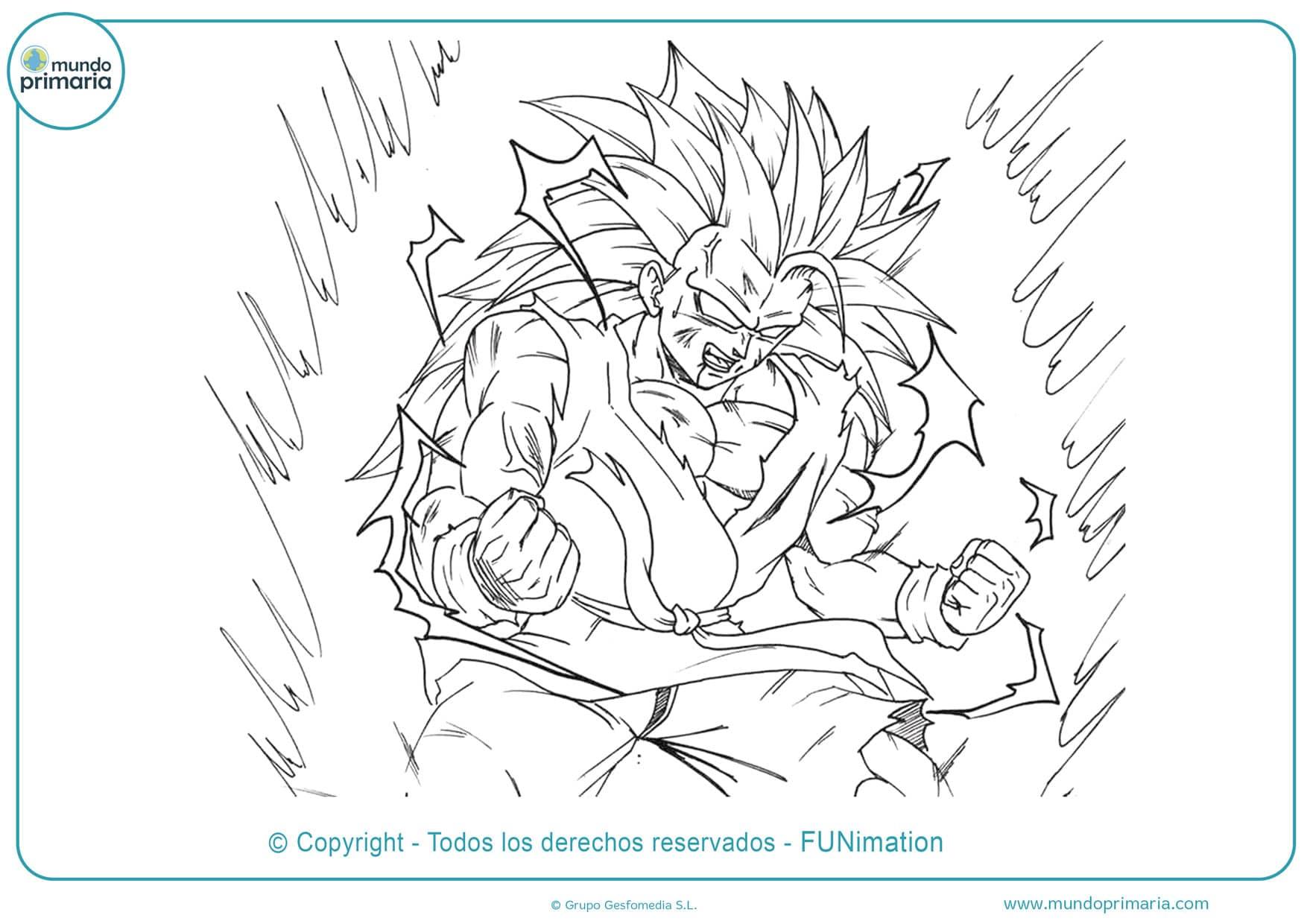 Dibujos de Goku para dibujar