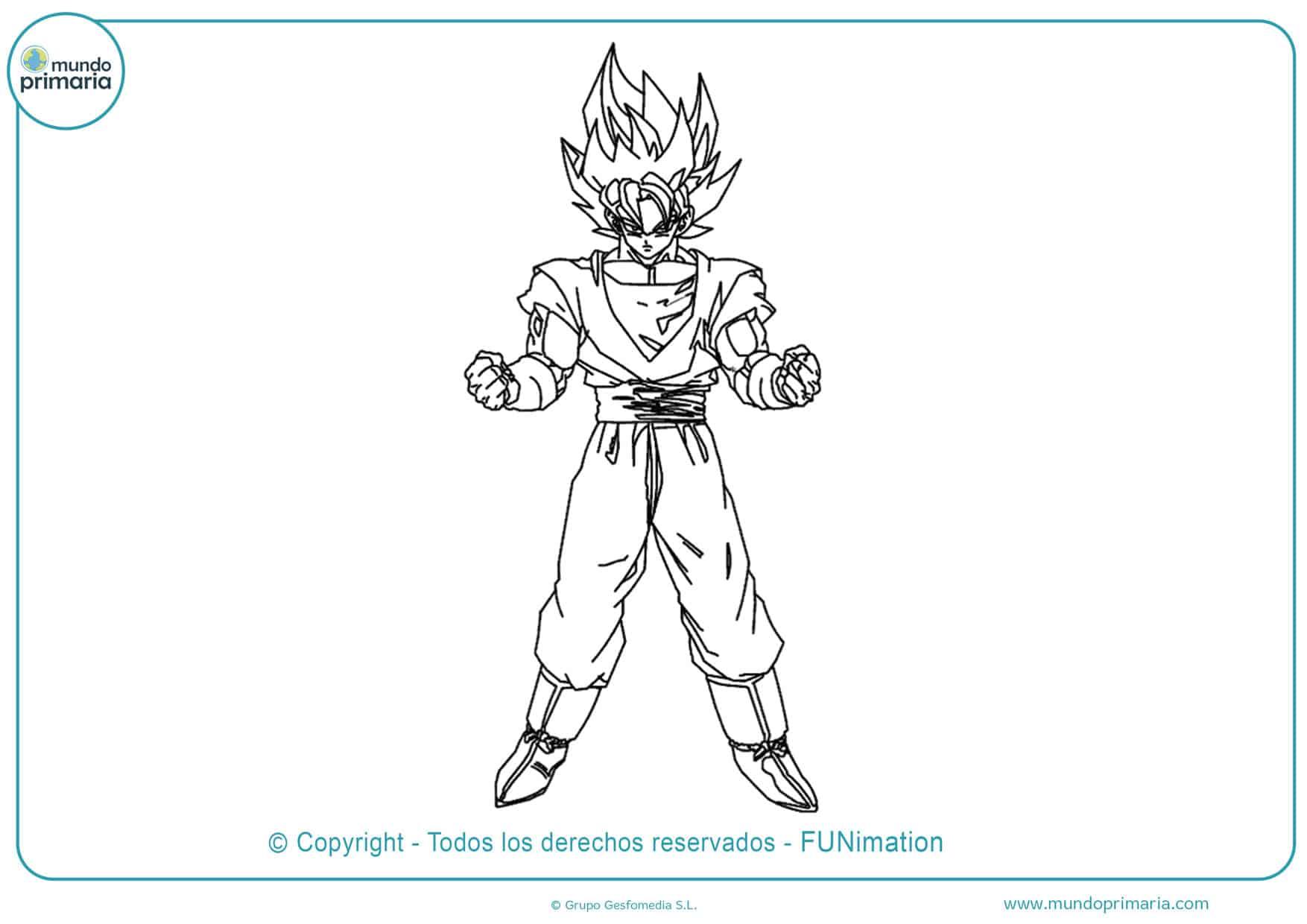 Dibujos de Goku para imprimir