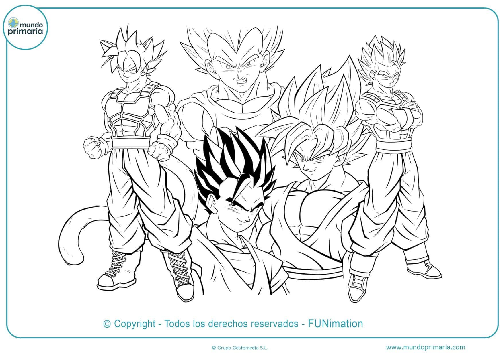 Dibujos De Goku Y Son Goku Para Colorear Listos Para Imprimir