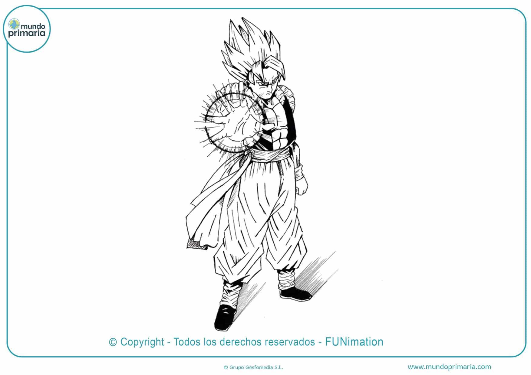 Dibujos de Goku y Vegeta
