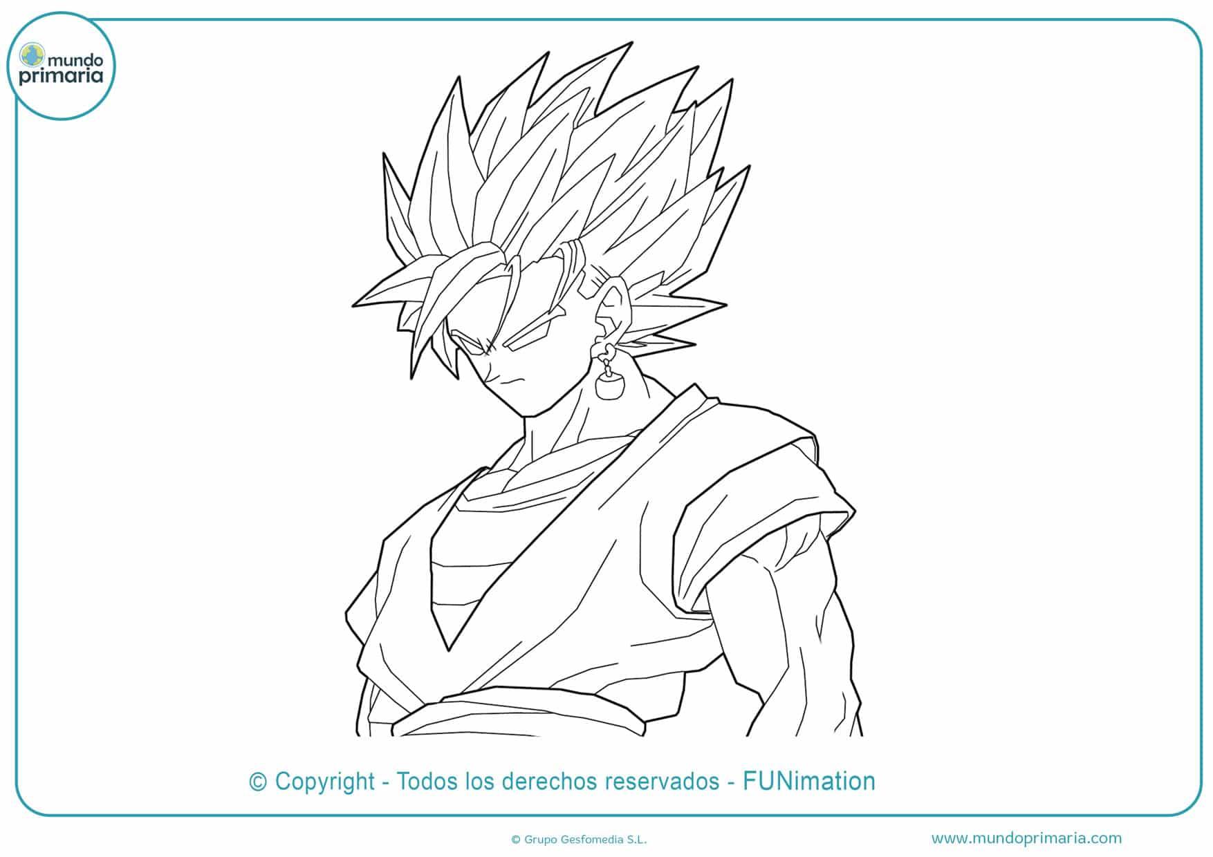Goku Y Vegeta Fase 4 Para Colorear Dibujo De Goku Y Vegeta