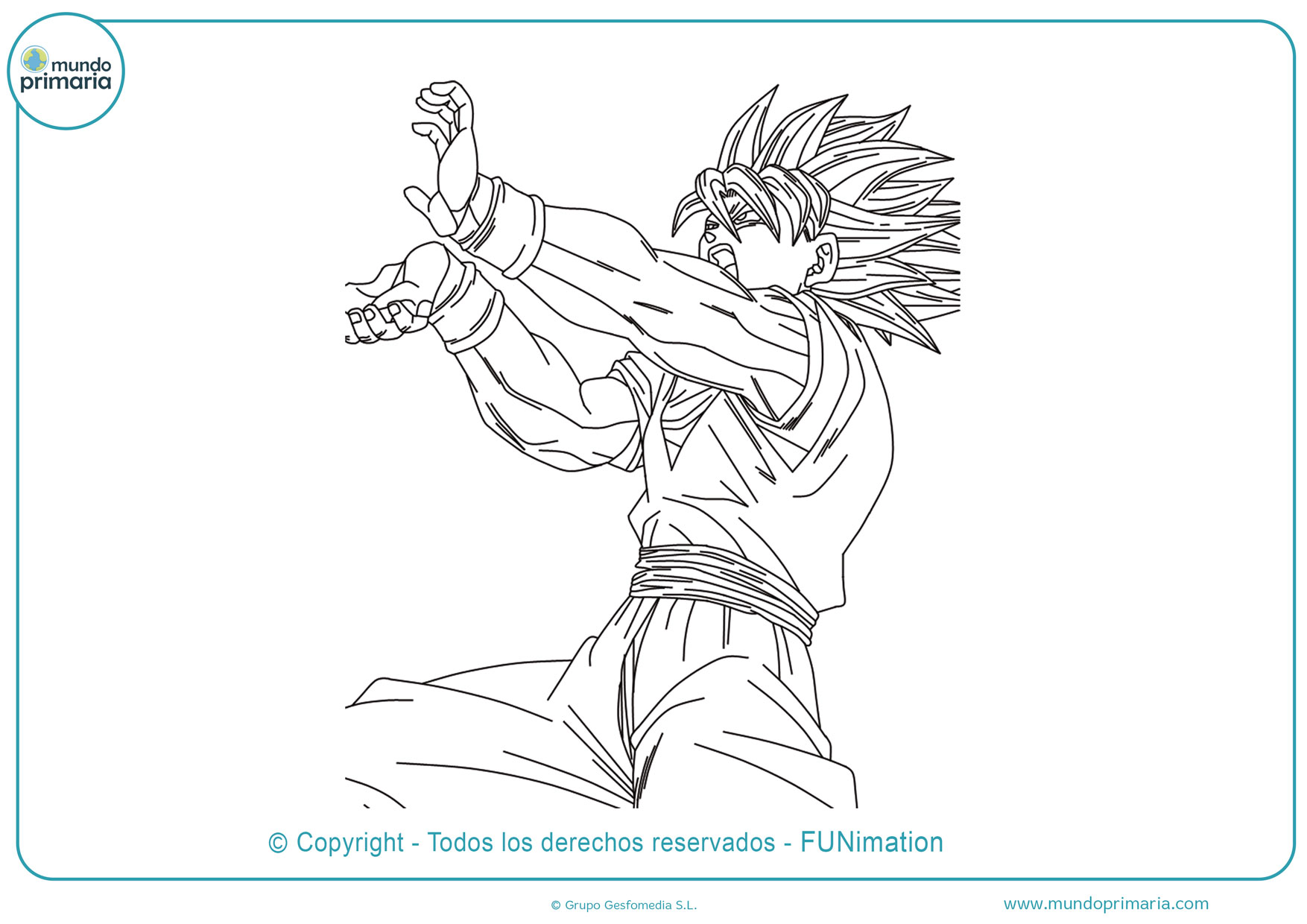 Dibujos de Son Goku para colorear