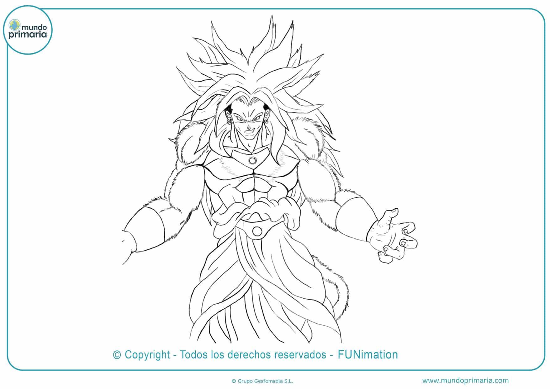dibujos de dragon ball gt para colorear