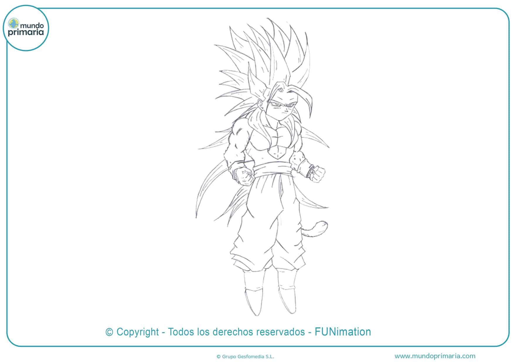 Dibujos fáciles de Goku