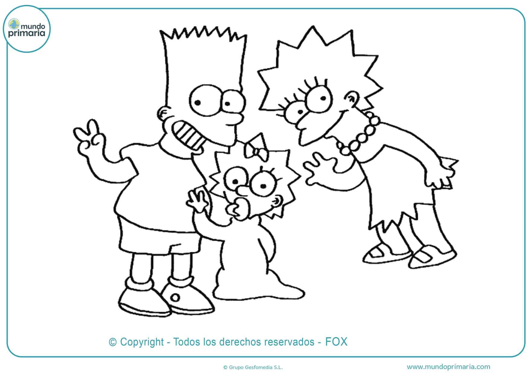 dibujos de la familia simpson feliz