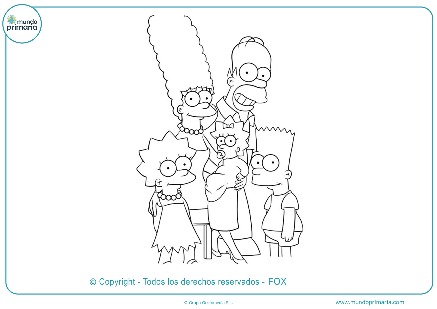 dibujos de la familia simpson para colorea