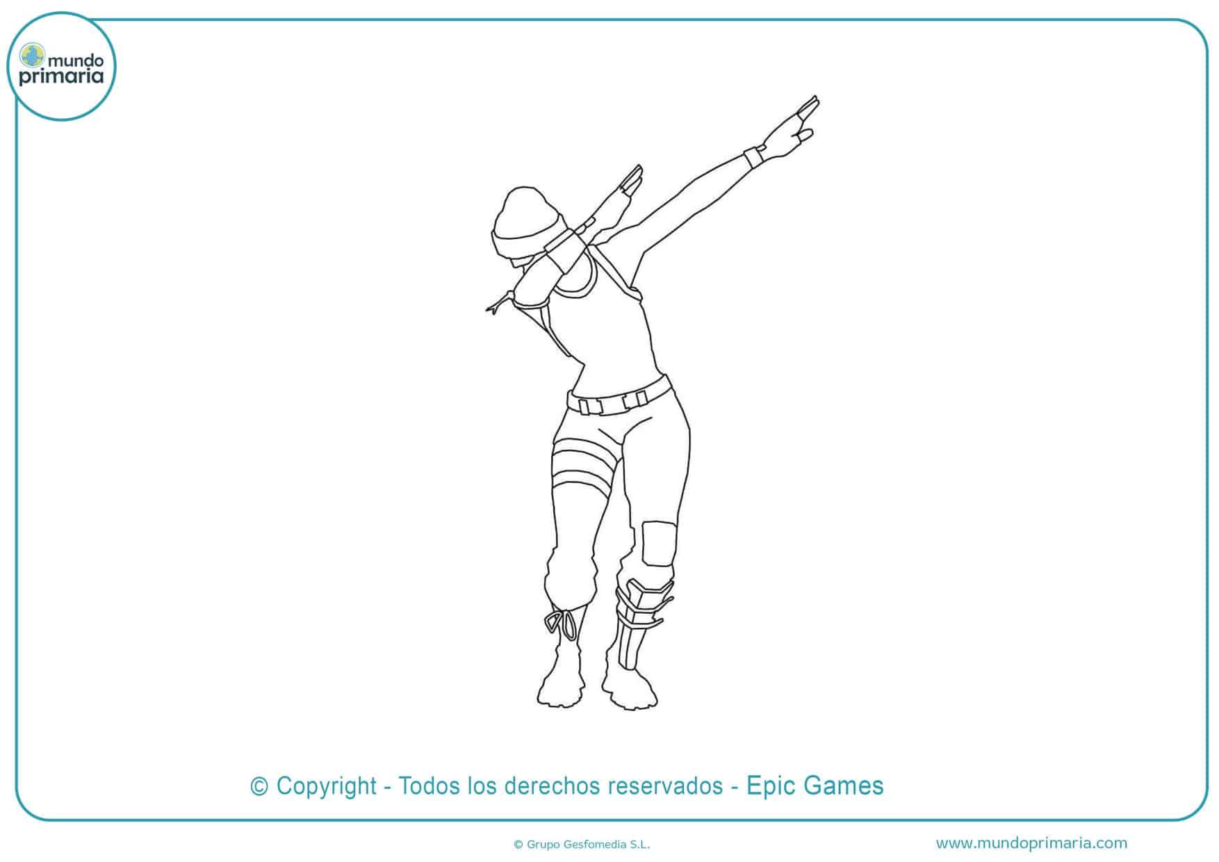 dibujos de fortnite para colorear bailes