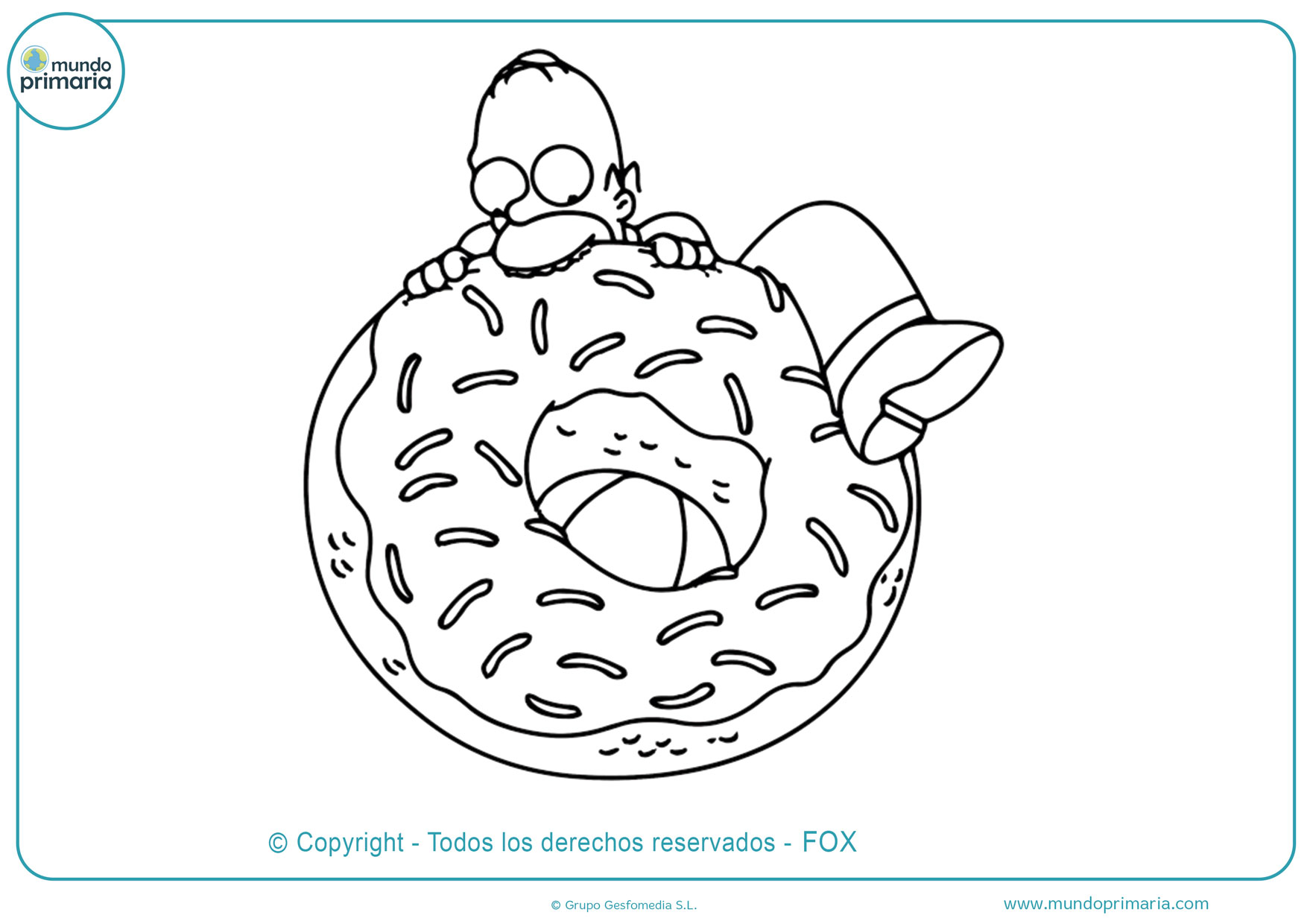 dibujos de la gran rosquilla de homero simpson