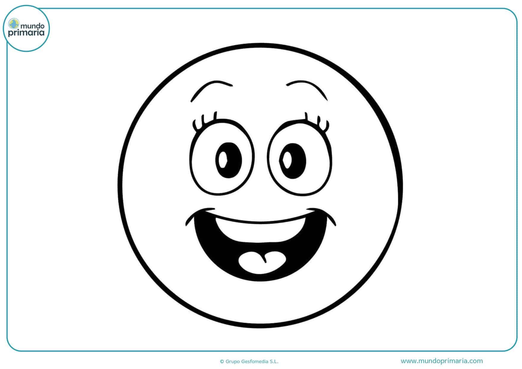 dibujos para imprimir y colorear de emojis