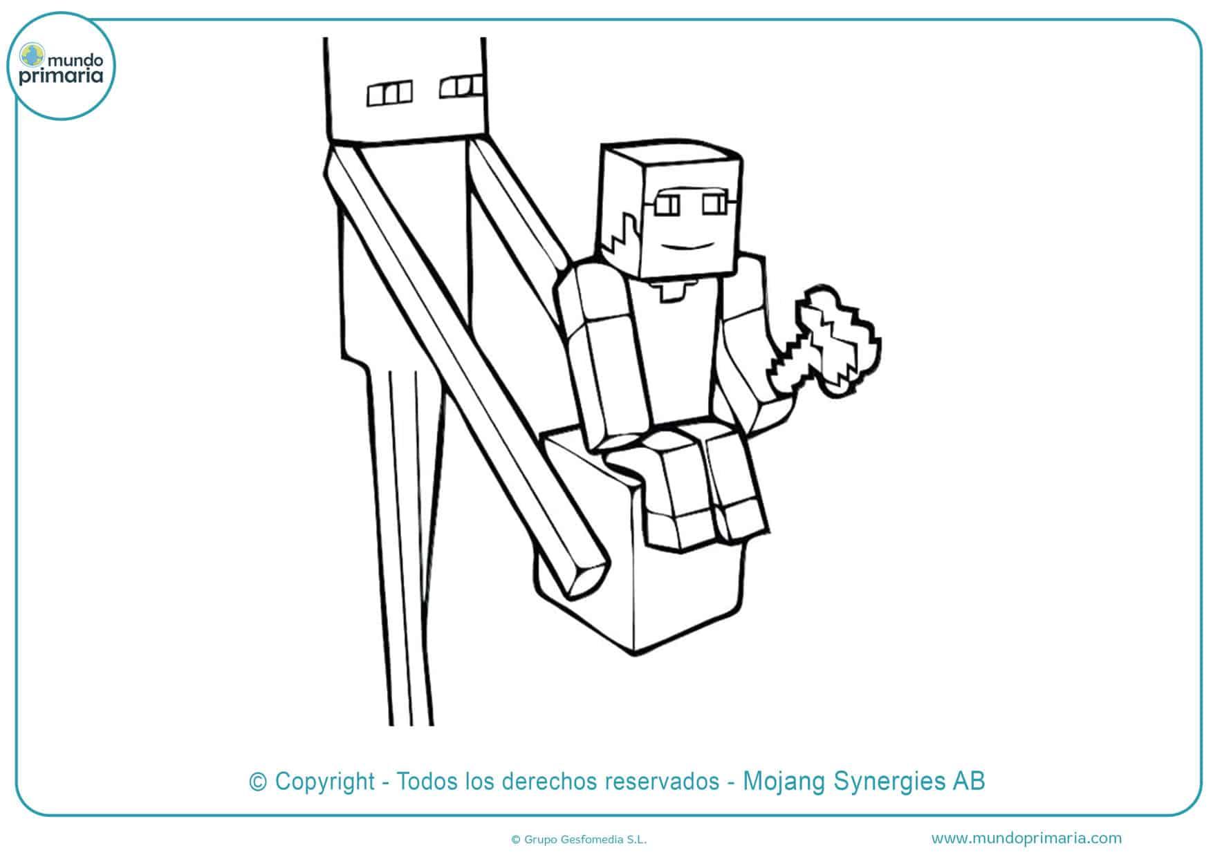 dibujos de minecraft enderman para colorear