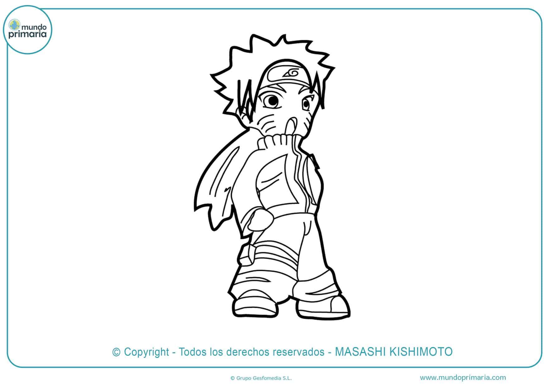 dibujos de naruto uzumaki para colorear