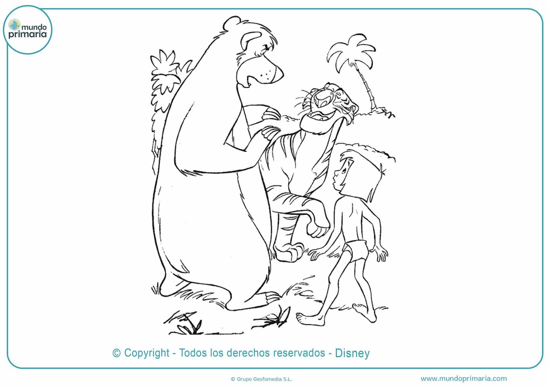 dibujos para colorear de animales disney