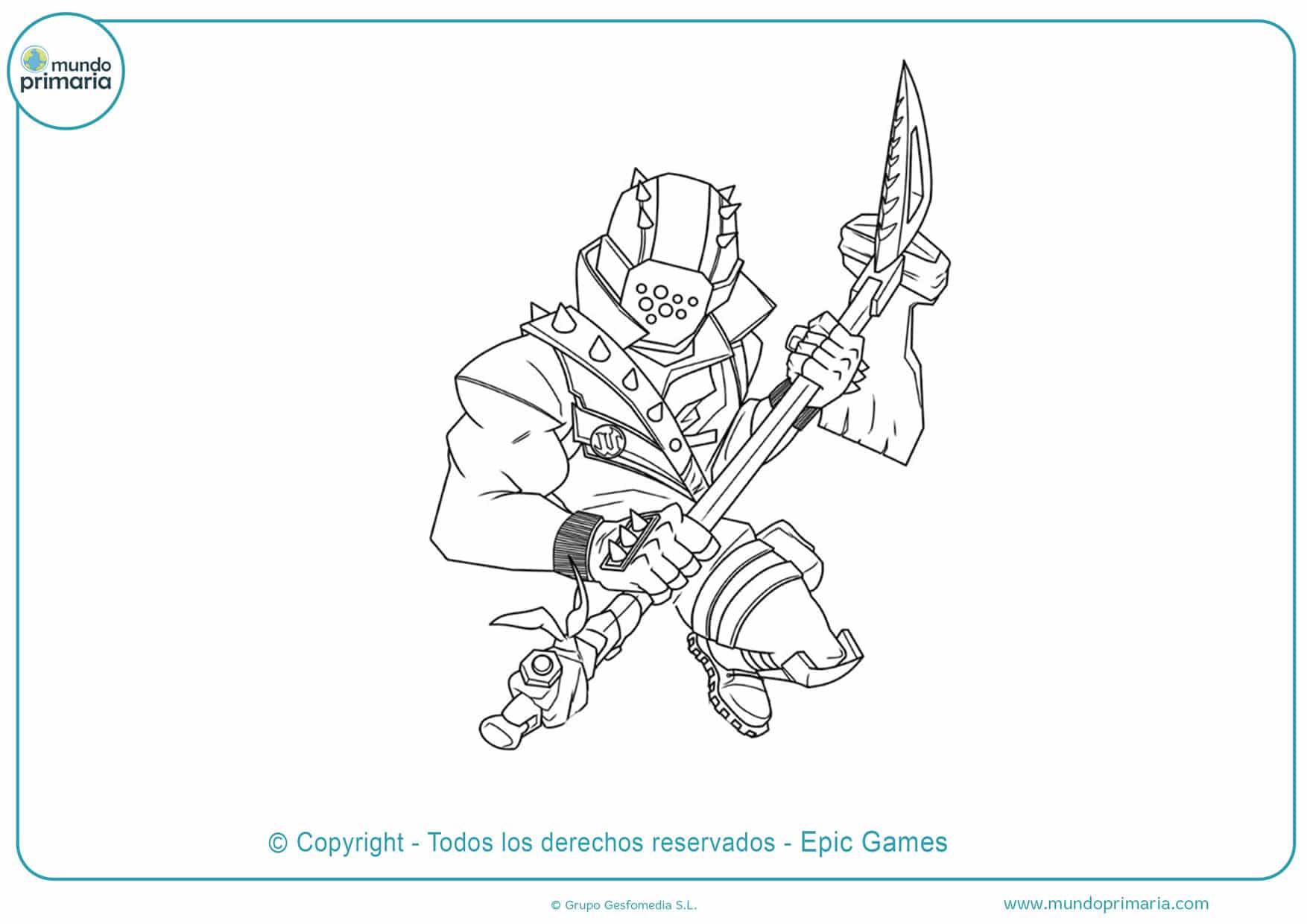 dibujos para colorear de armas de fortnite