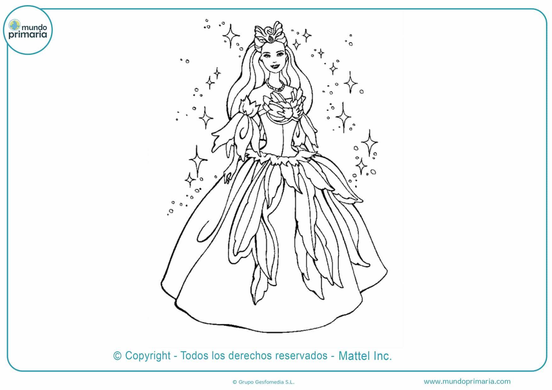 Dibujos De Barbie Para Colorear 【Imprimir Y Pintar】