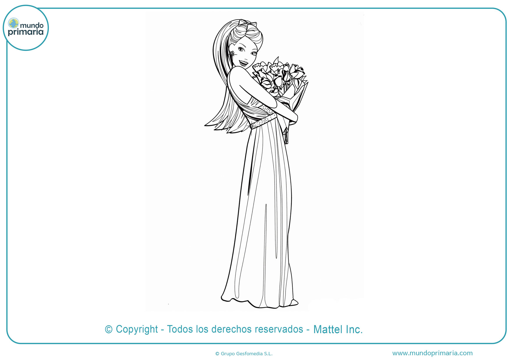 dibujos para colorear de barbie para imprimir