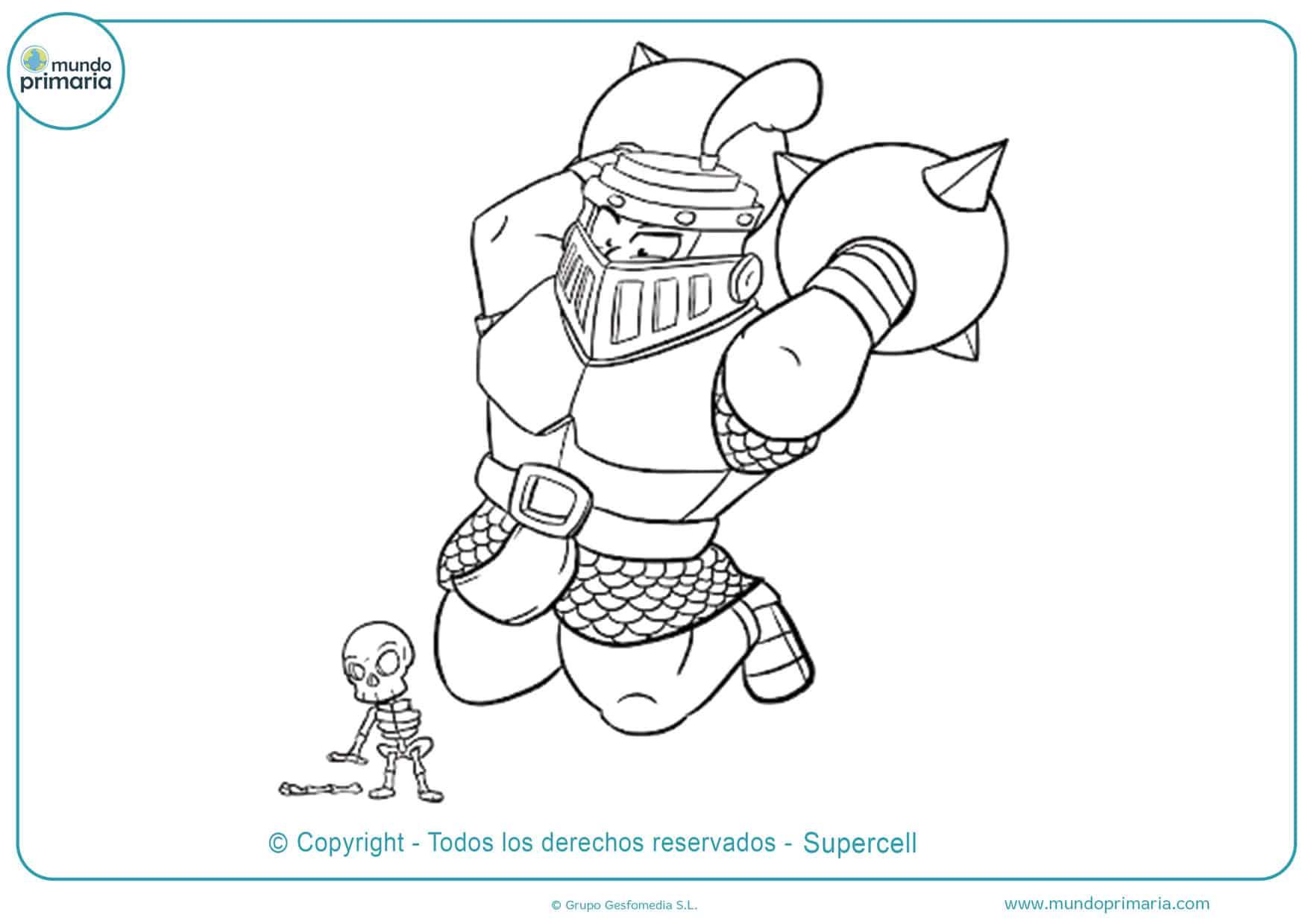 dibujos de clash royale legendarias para colorear