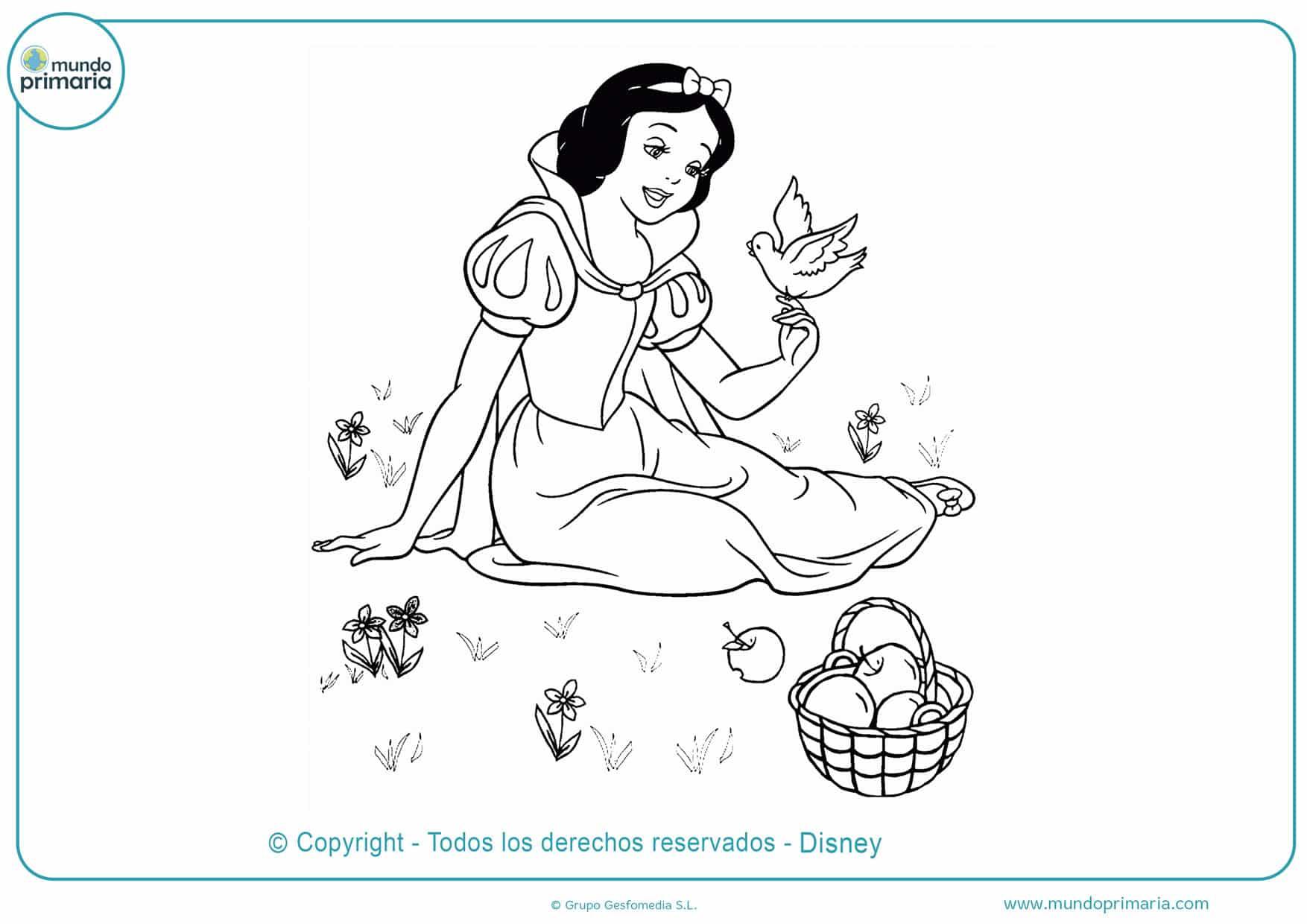 dibujos para colorear dificiles disney