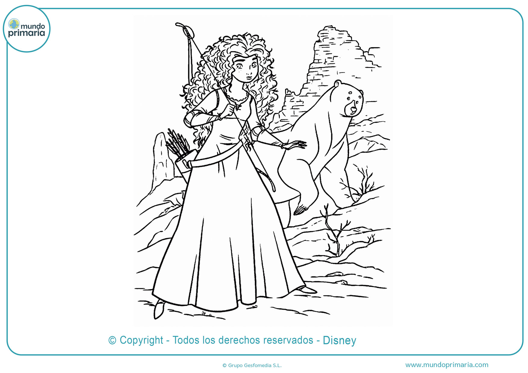 dibujos para colorear disney princesas fáciles