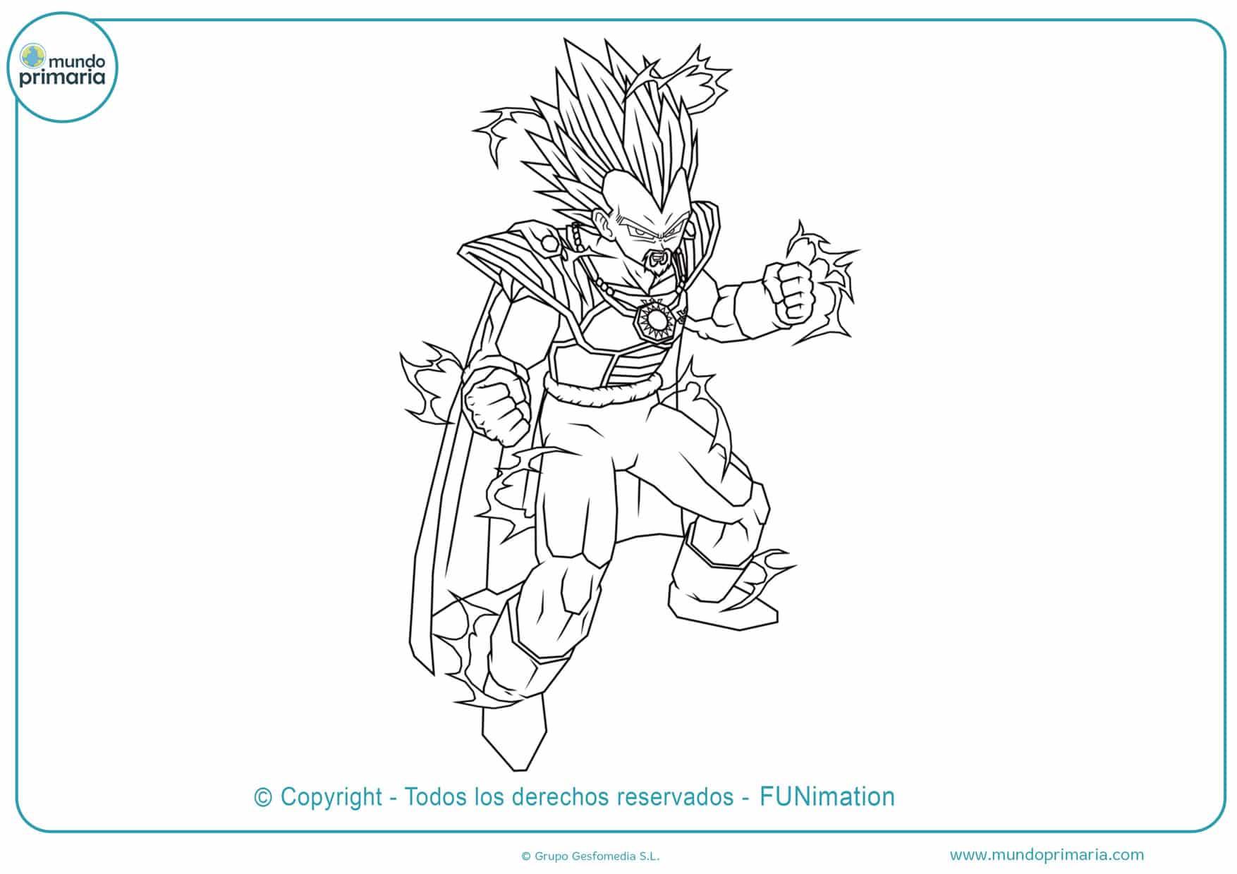 dibujos para colorear de dragon ball z gt