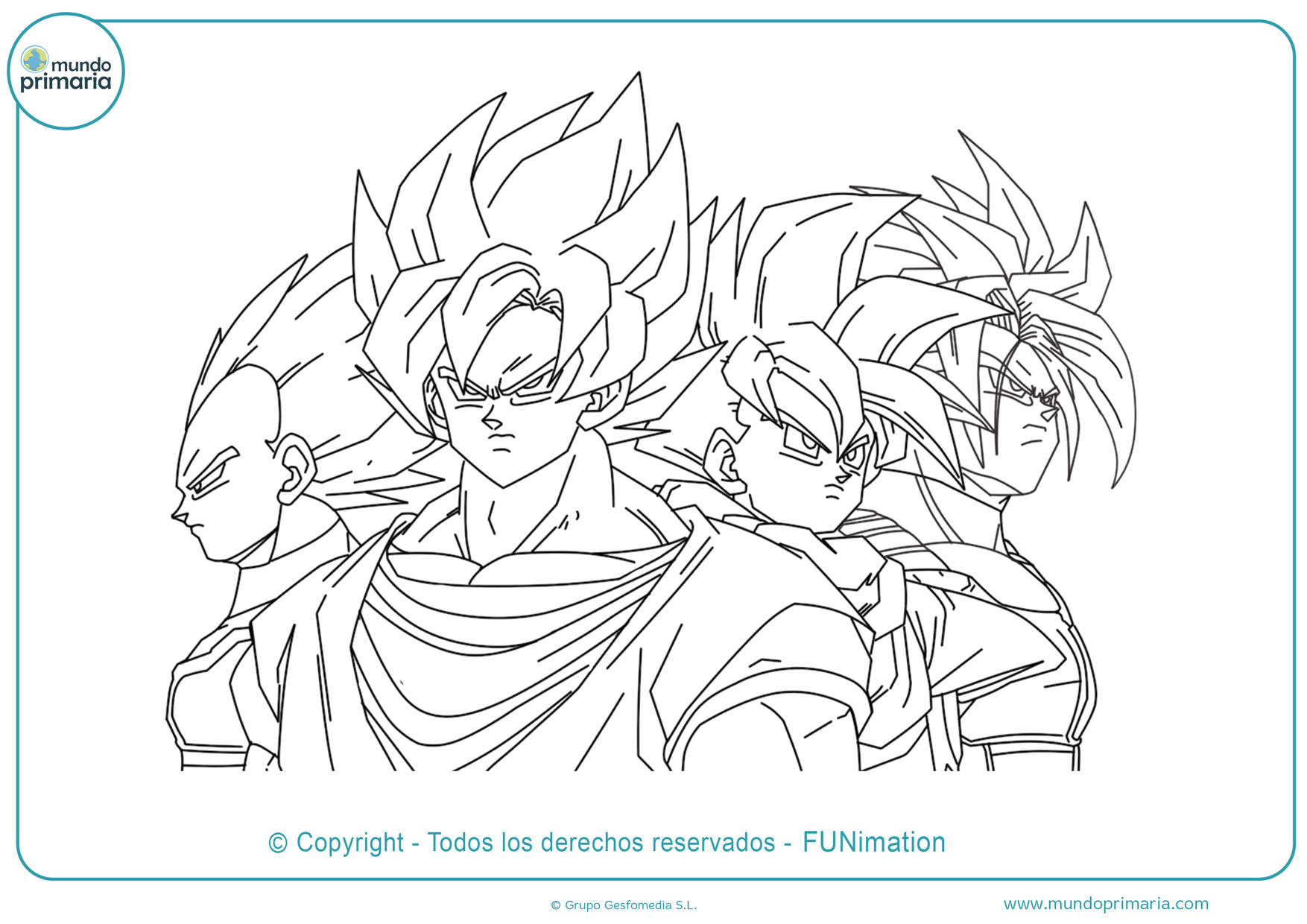 Dibujos De Dragon Ball Para Colorear Faciles De Imprimir
