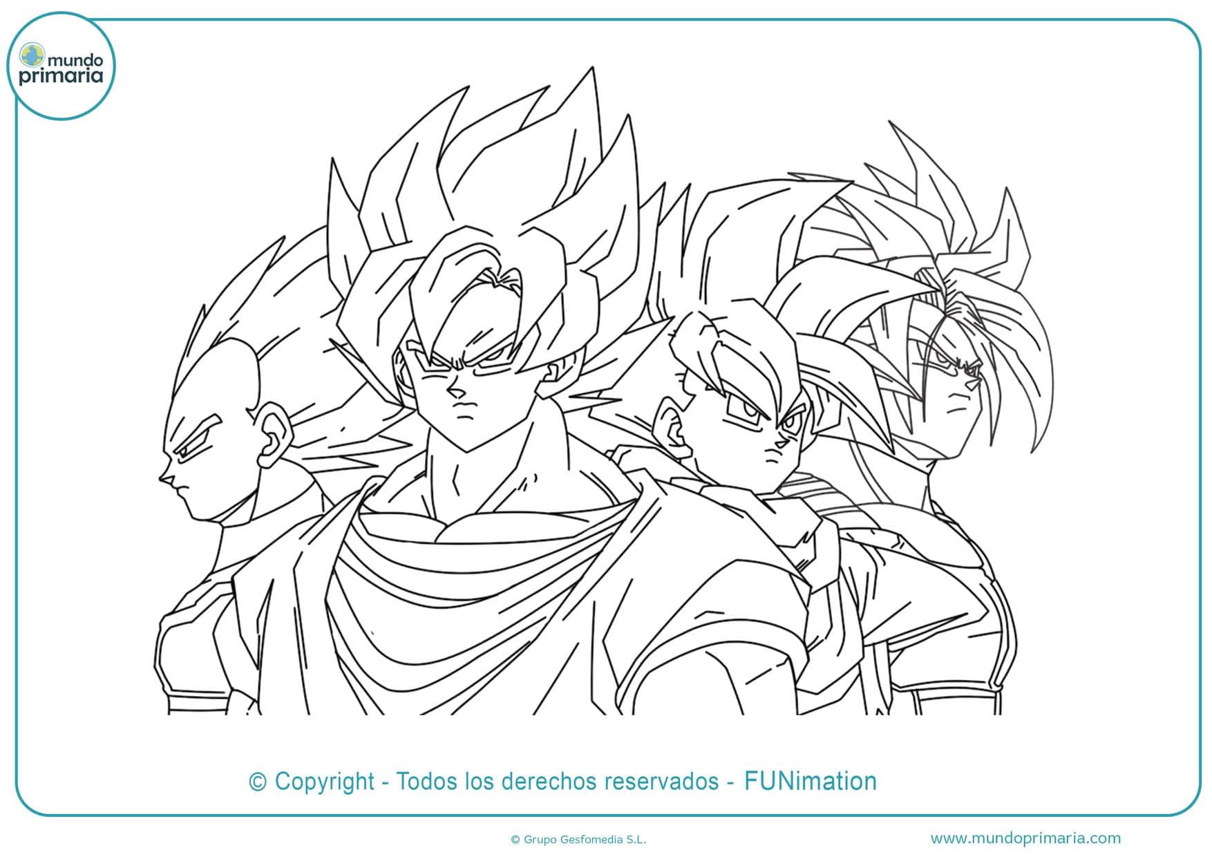Dibujos De Dragon Ball Para Colorear Fáciles De Imprimir