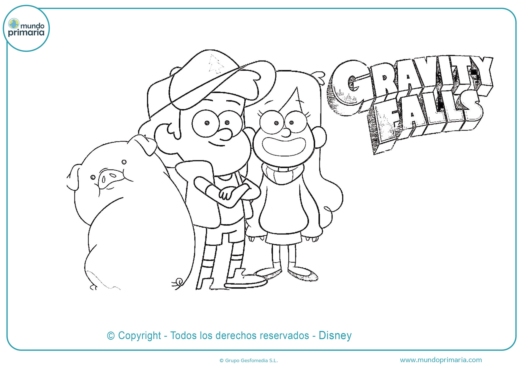 dibujos para colorear de gravity falls