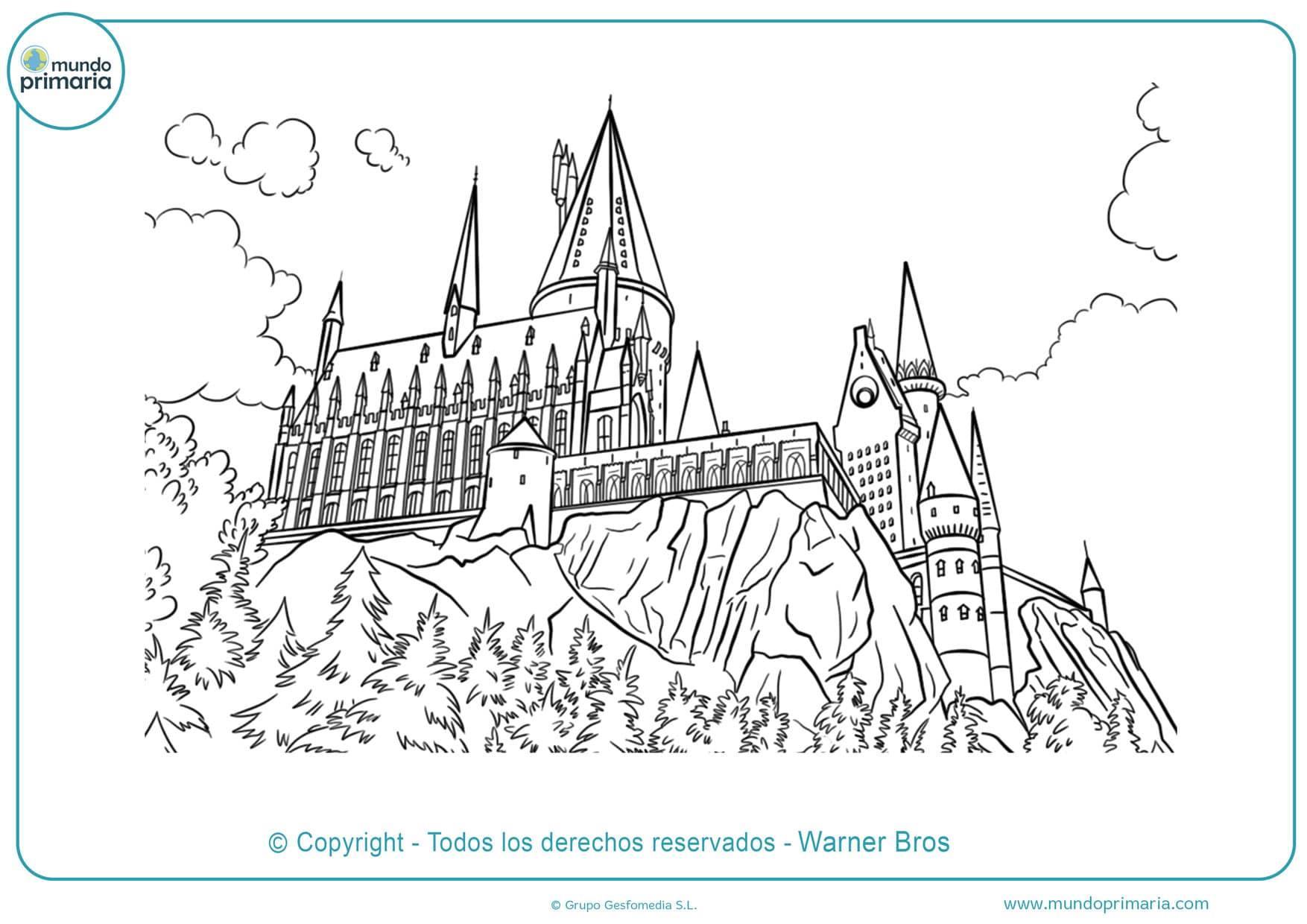 dibujos para colorear harry potter y las reliquias de la muerte