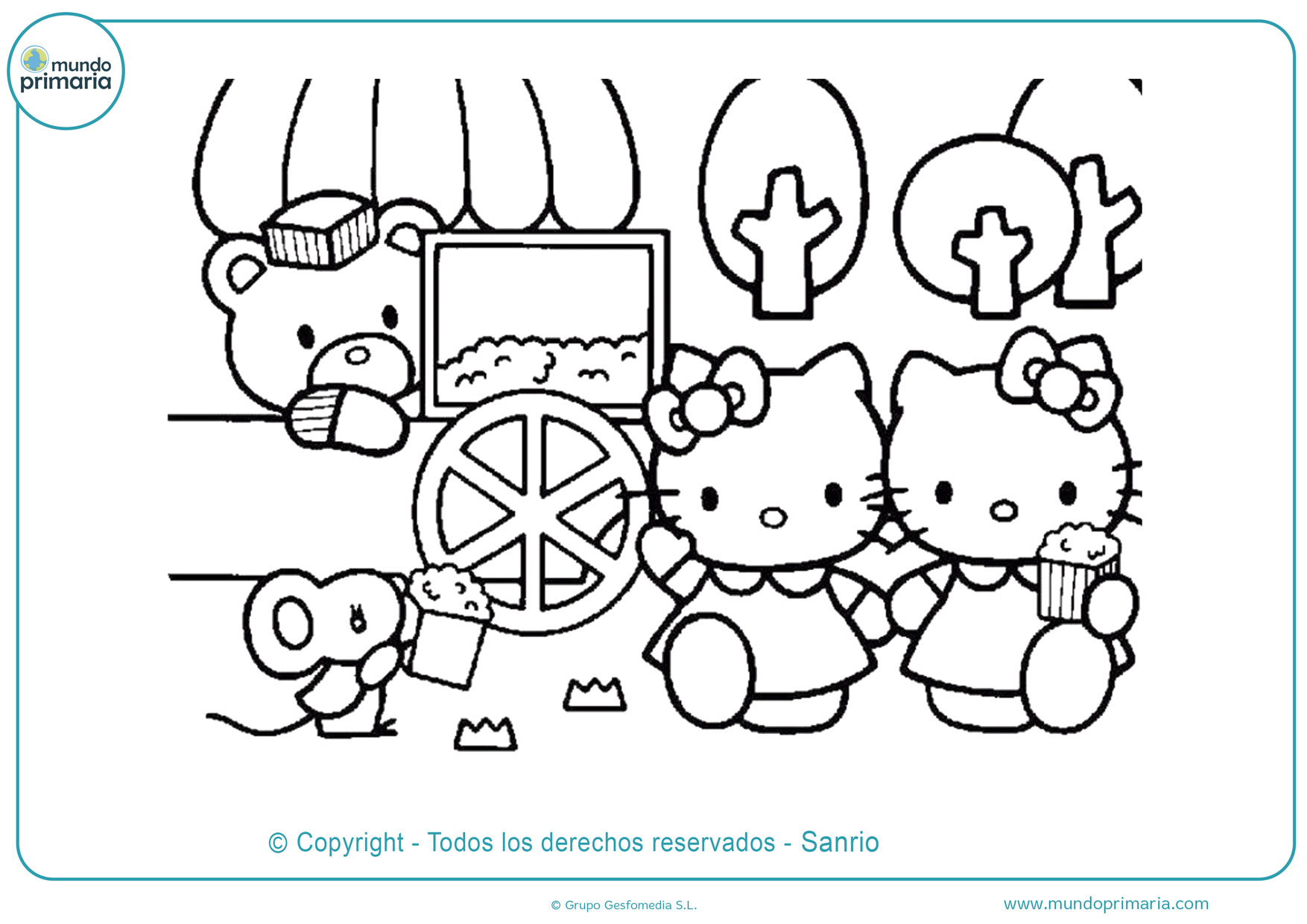 Dibujos De Hello Kitty Para Colorear Imprimir Y Pintar