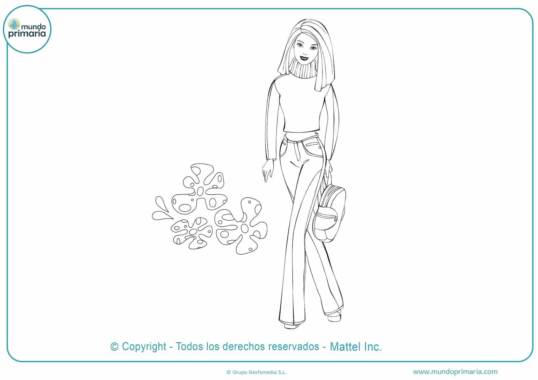 Dibujos para colorear e imprimir de barbie
