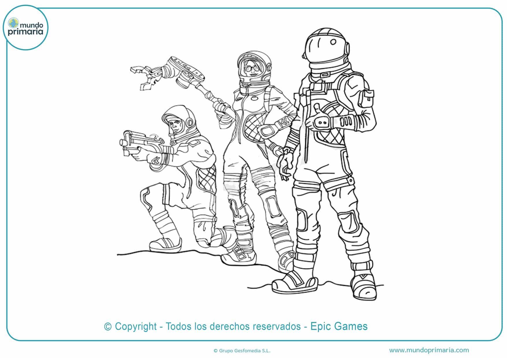 Dibujos De Fortnite Para Colorear Mundo Primaria