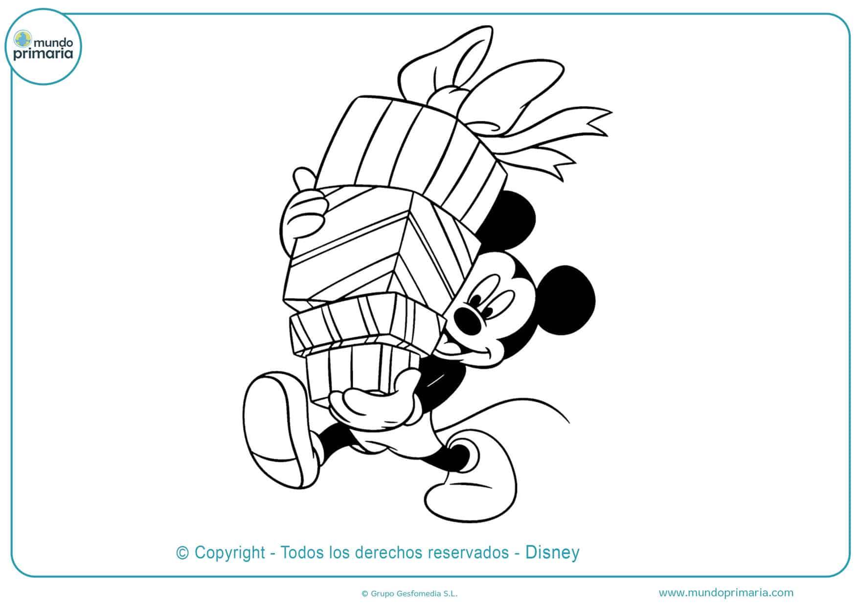 dibujos para colorear e imprimir de mickey mouse