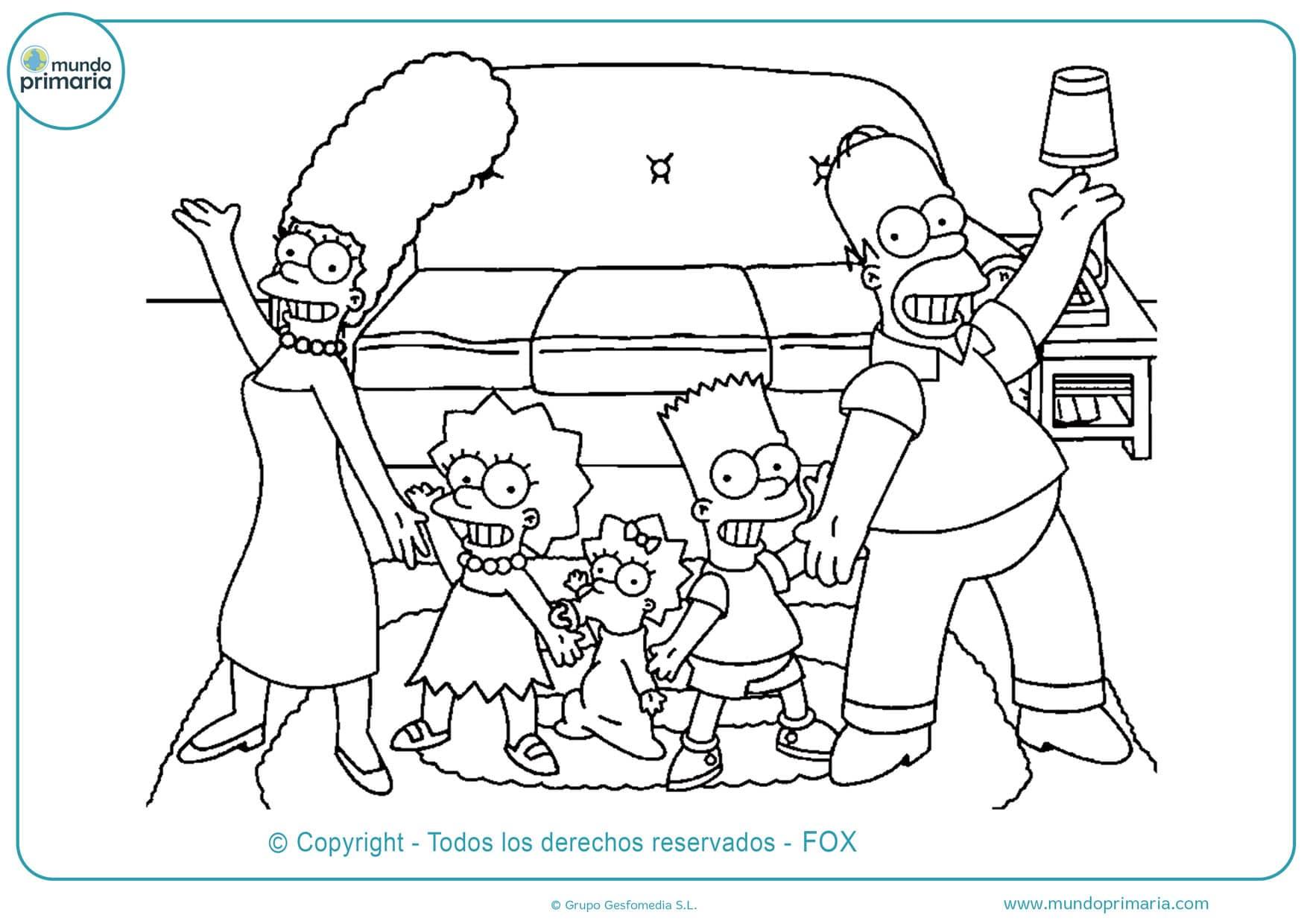 Dibujos De Los Simpson Para Colorear Fáciles De Imprimir