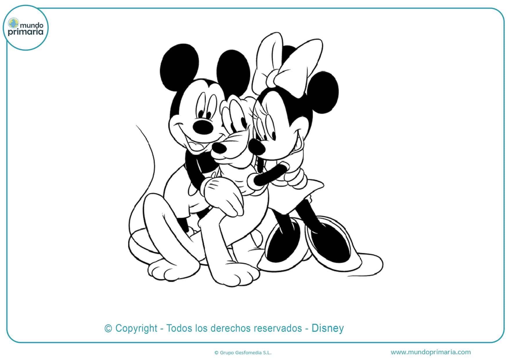 dibujos para colorear de mickey y minnie mouse