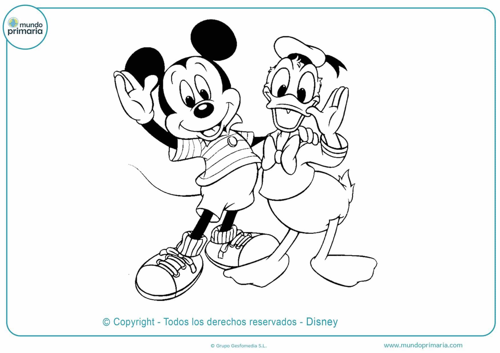 dibujos para colorear de mickey mouse y sus amigos