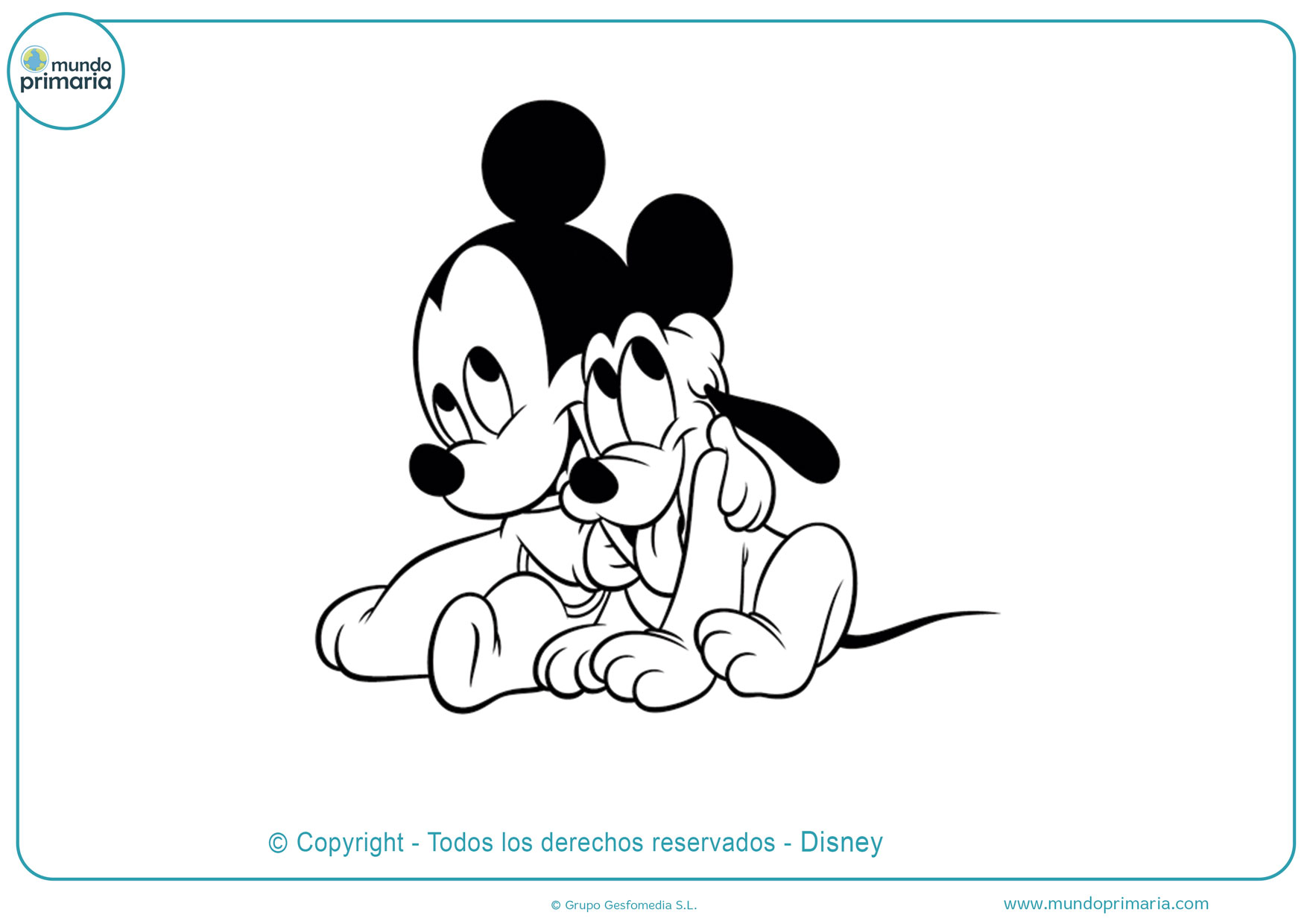 Dibujos De Mickey Mouse Para Colorear Imprimir