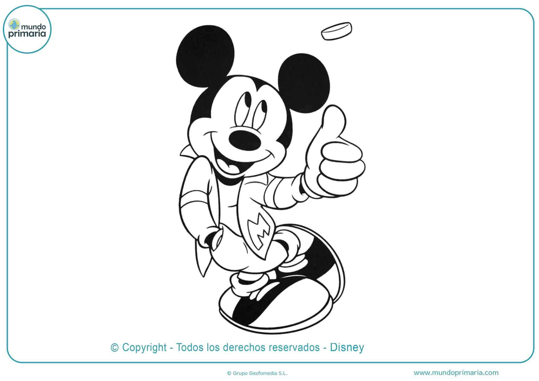 dibujos para colorear de mickey mouse para imprimir