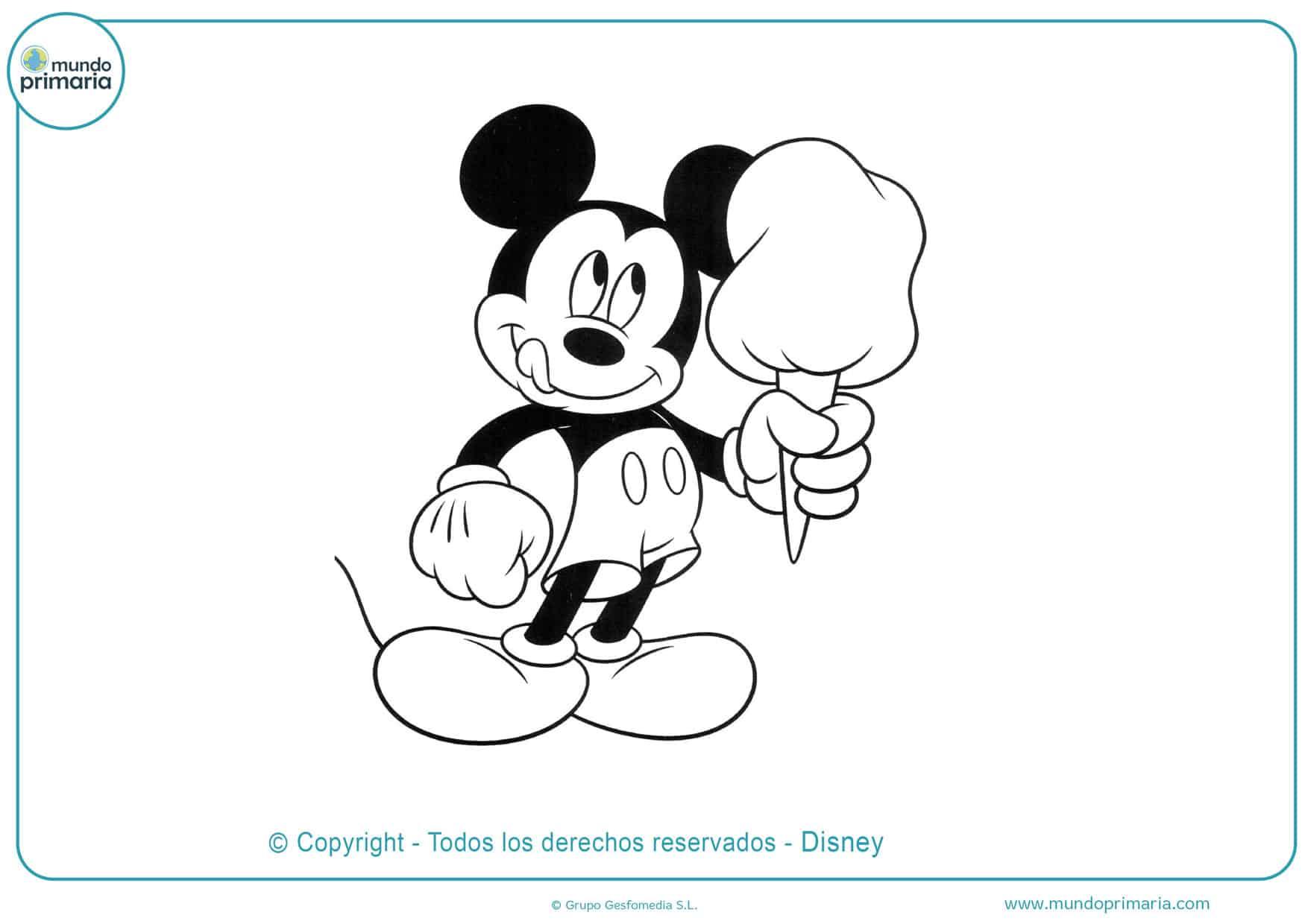 dibujos para colorear de mickey mouse y todos sus amigos