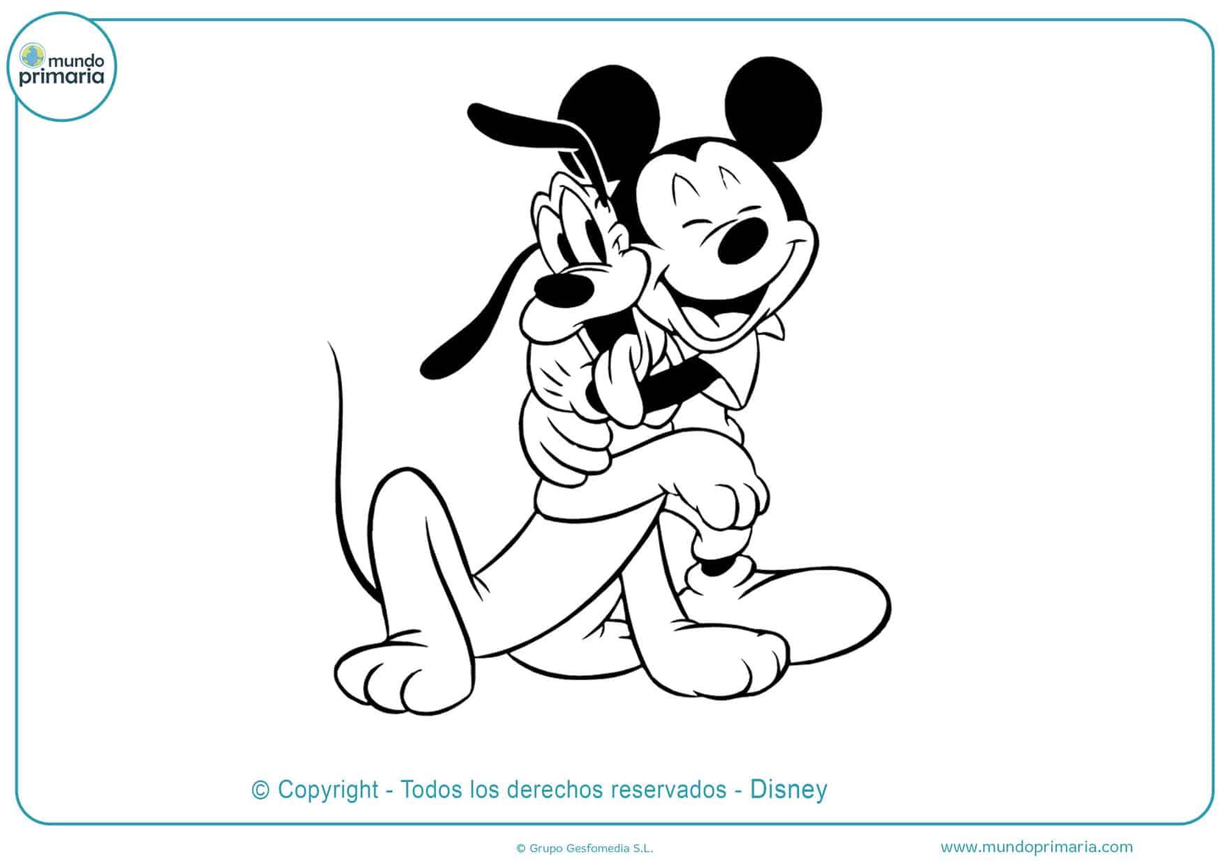 dibujos para colorear de mickey mouse