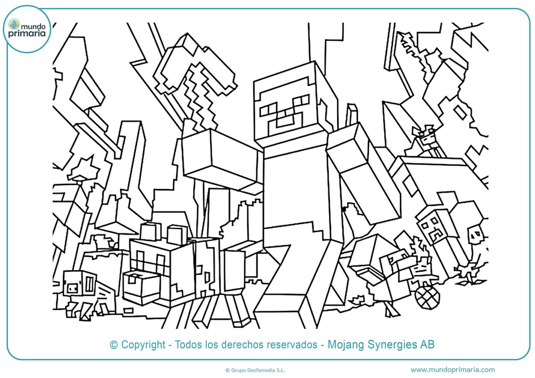 dibujos para colorear de minecraft en linea