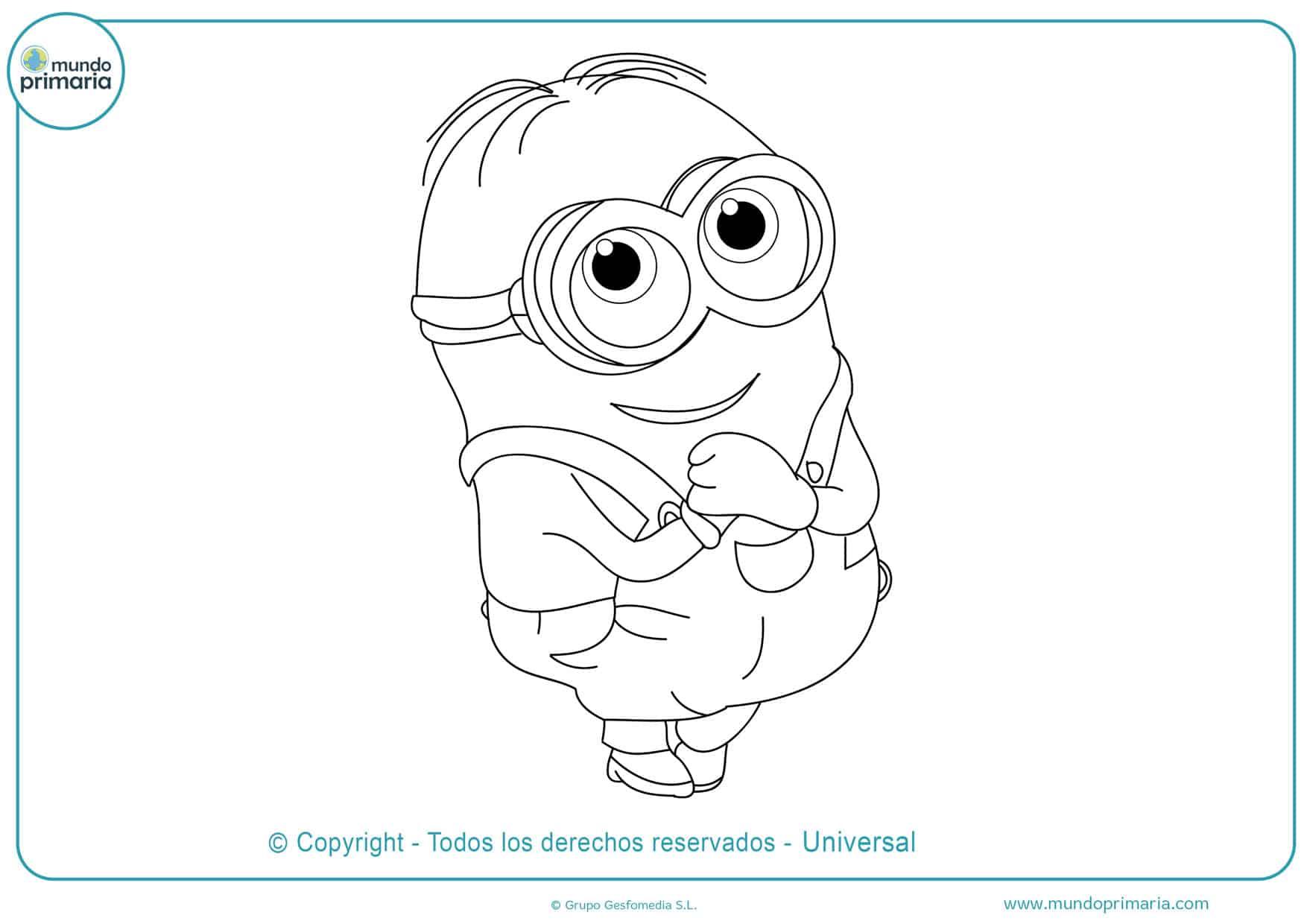dibujos para colorear de los minions faciles