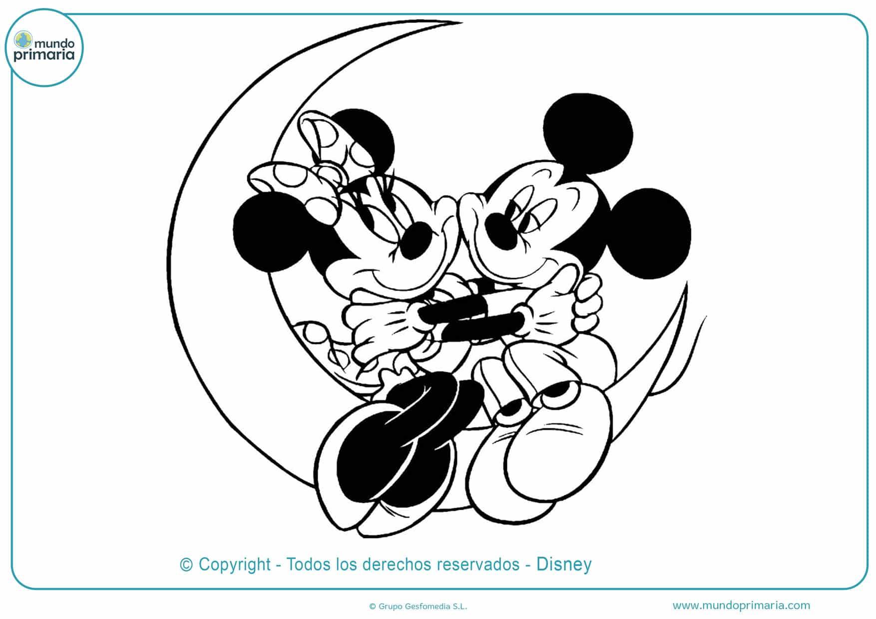 dibujos para colorear de minnie y mickey mouse
