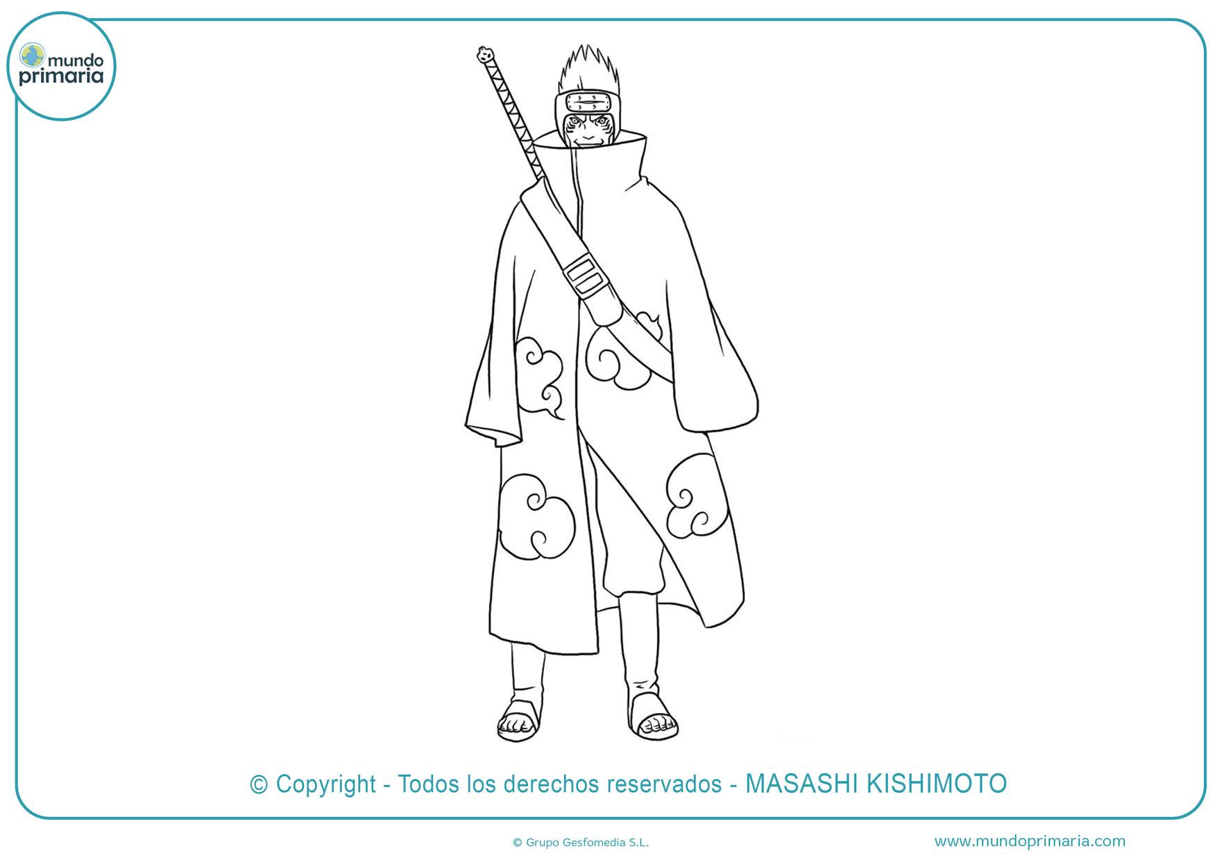dibujos para colorear de naruto vs sasuke
